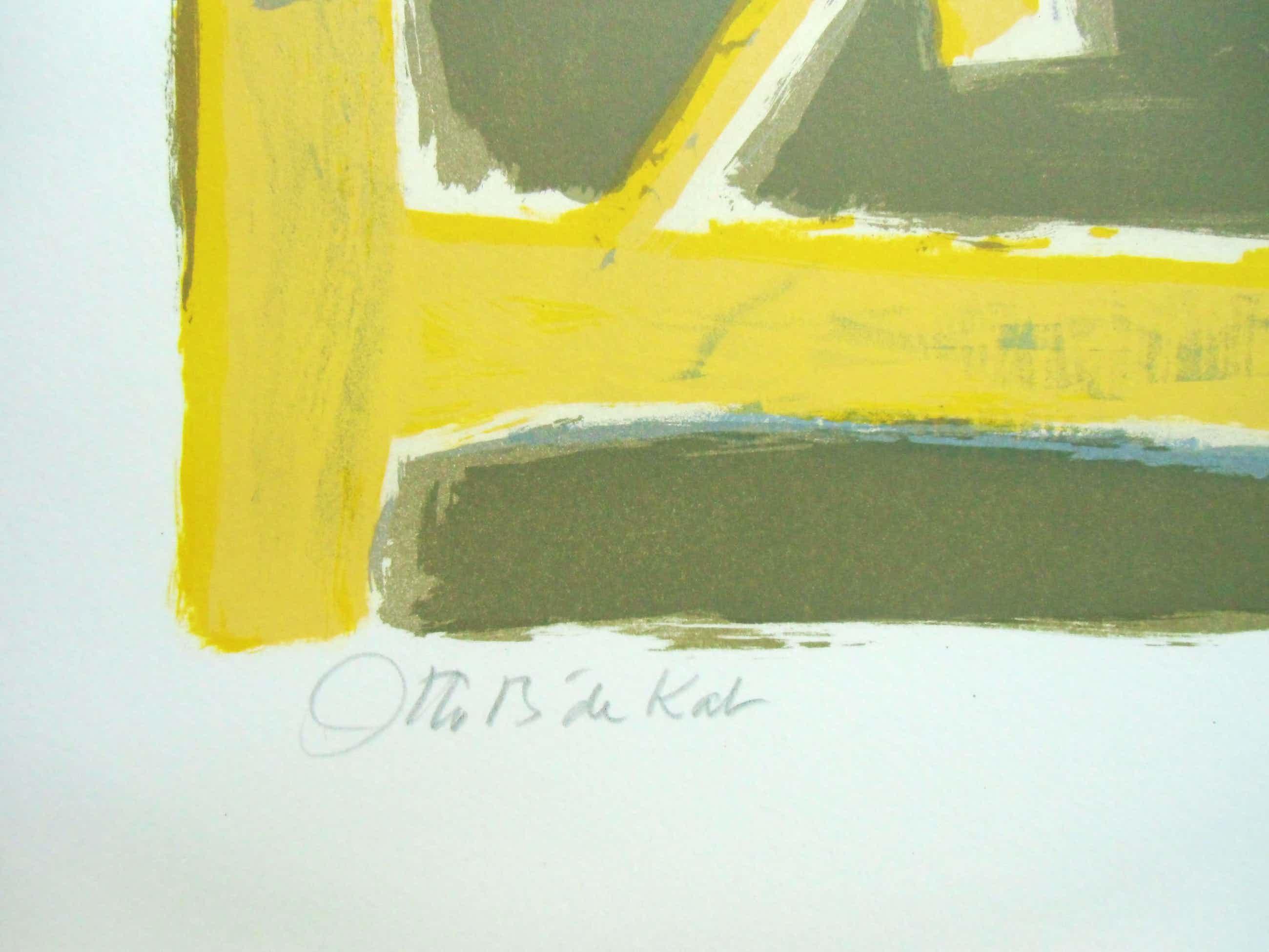Otto B. de Kat - HET GELE STOELTJE /// KLEURENLITHO VAN OTTO B. DE KAT kopen? Bied vanaf 55!