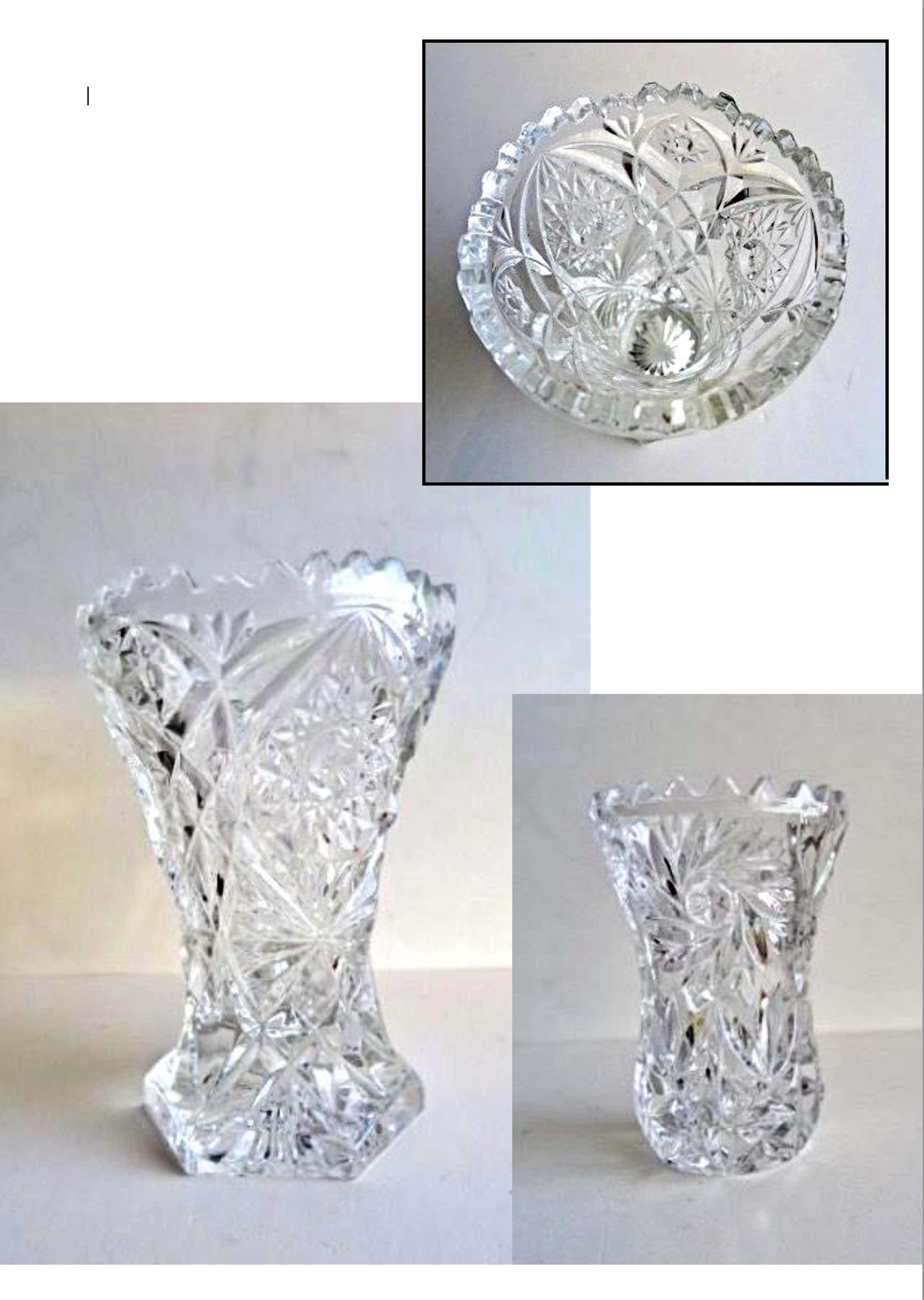 Val-Saint-Lambert - 2 Vazen - Zware kwaliteit - Handgeslepen Loodkristal - Fraaie lichtvangers kopen? Bied vanaf 10!