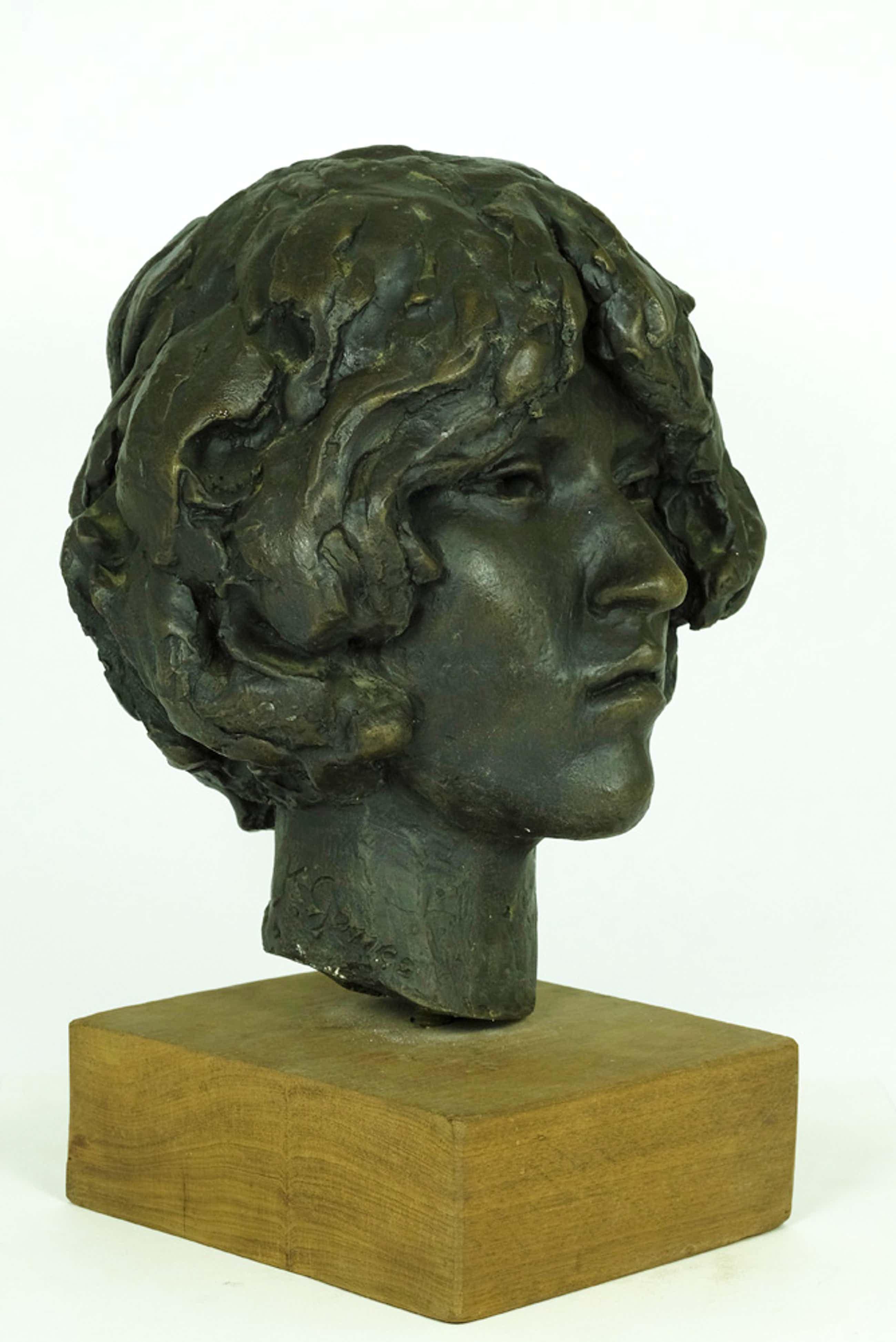 Karel Gomes - Bronzen beeld van hoofd van vrouw - ruim 22 kg kopen? Bied vanaf 695!