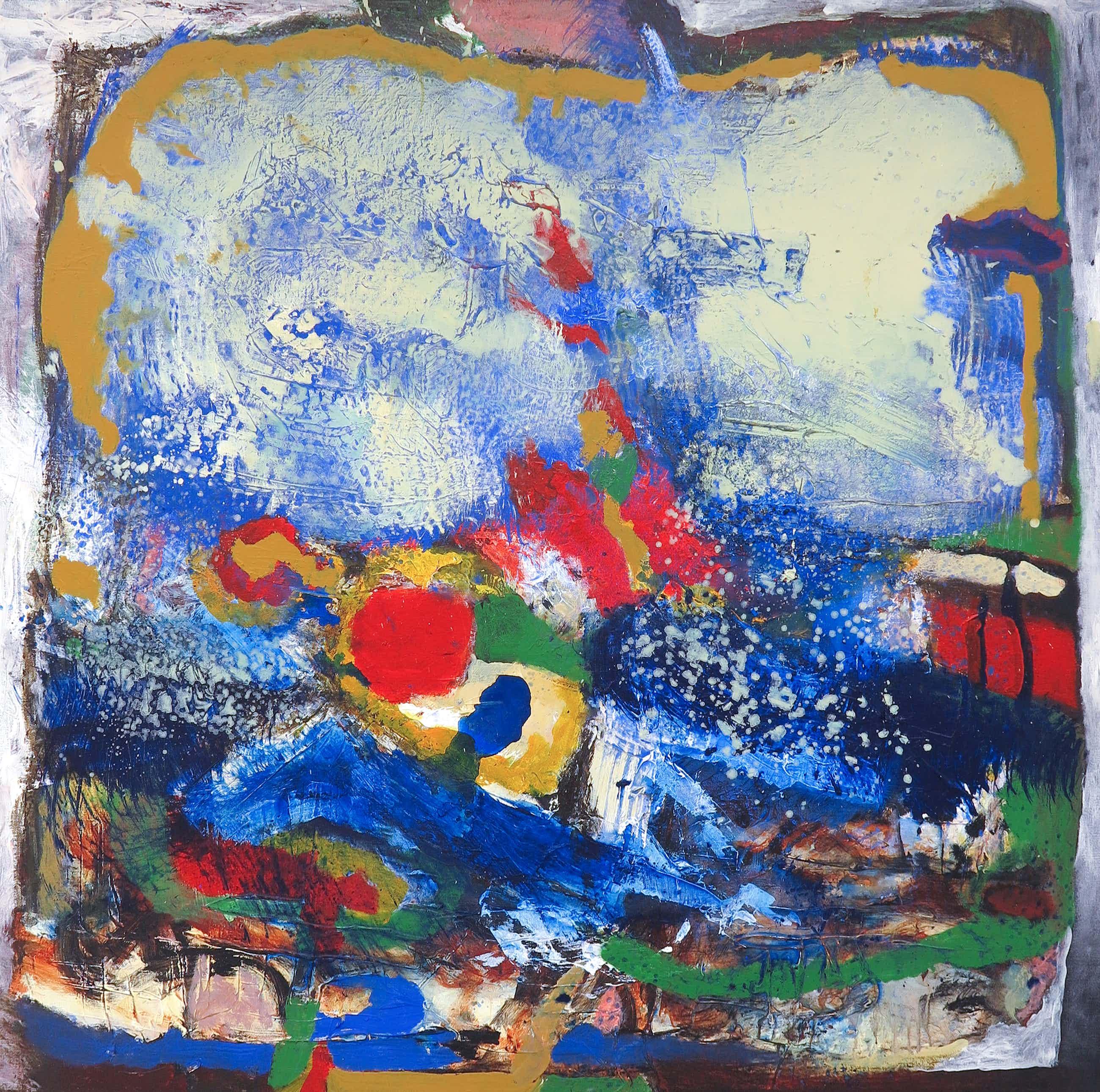 Frans Nicolai - Olieverf op doek, Abstract landschap (Zeer groot) kopen? Bied vanaf 125!