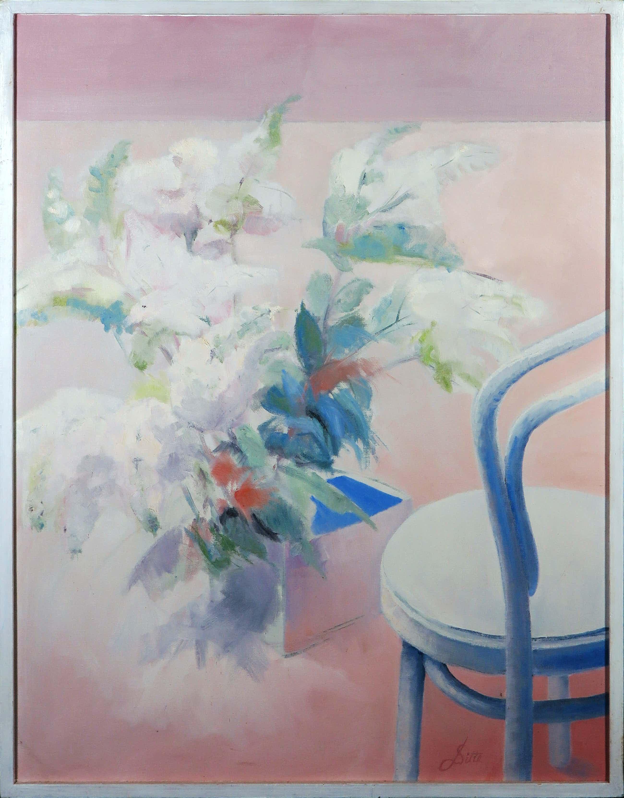 Franscz Witte - Acryl op doek, Verliefde bloemen- Ingelijst kopen? Bied vanaf 35!