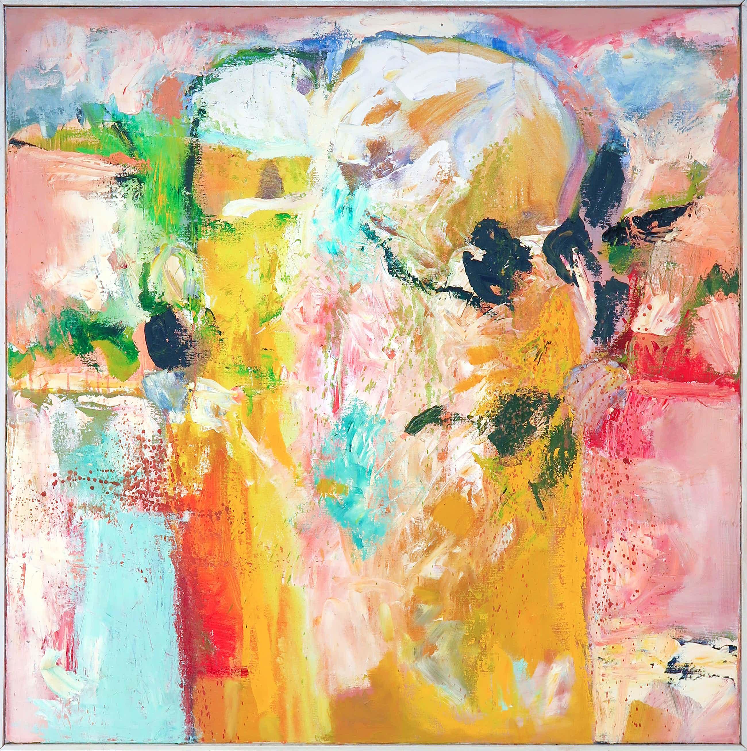 Frans Nicolai - Olieverf op doek, Abstract landschap - Ingelijst (Zeer groot) kopen? Bied vanaf 260!