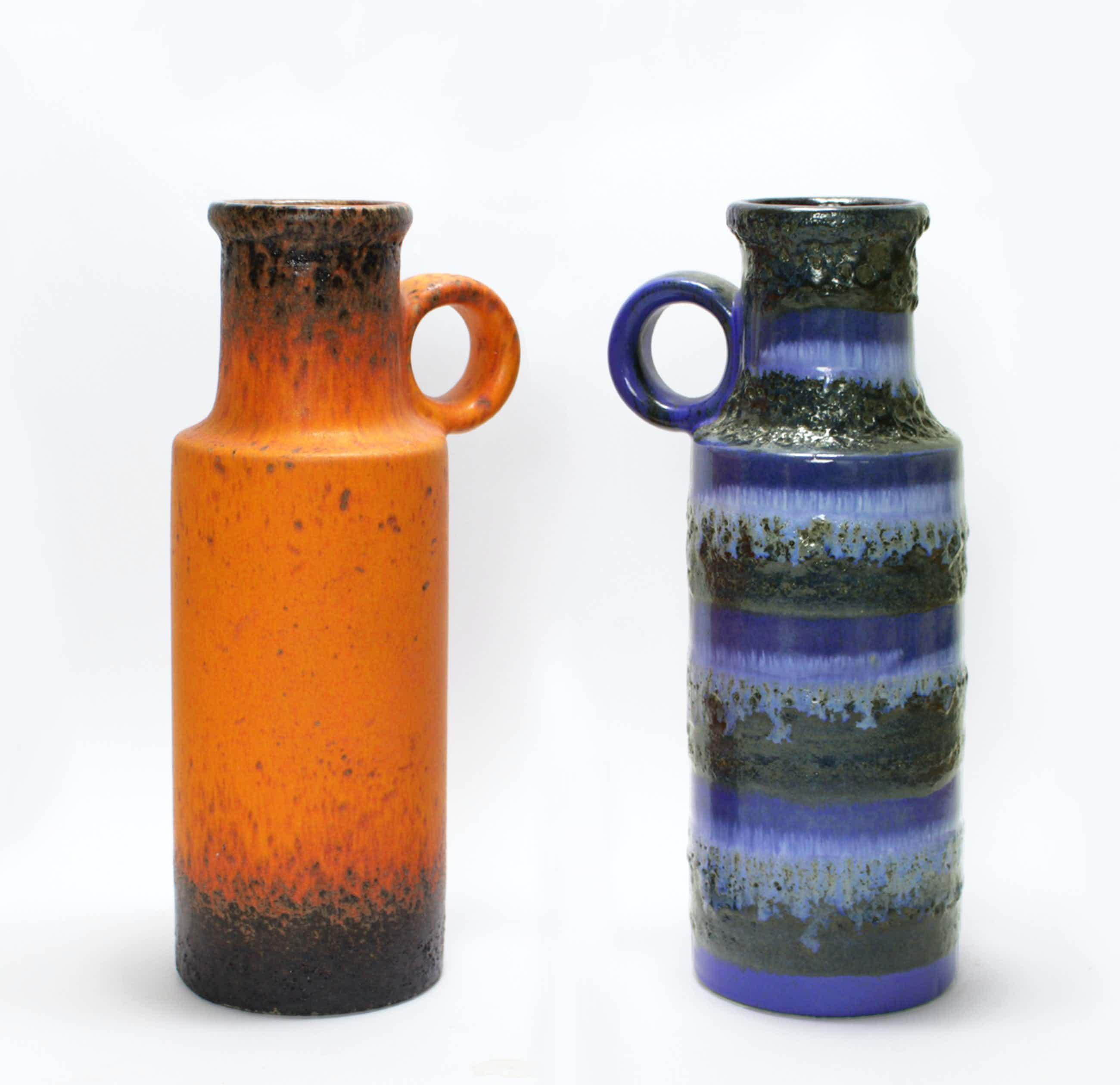 Scheurich Keramik - 2 Fat Lava vazen - model 401/28 kopen? Bied vanaf 45!
