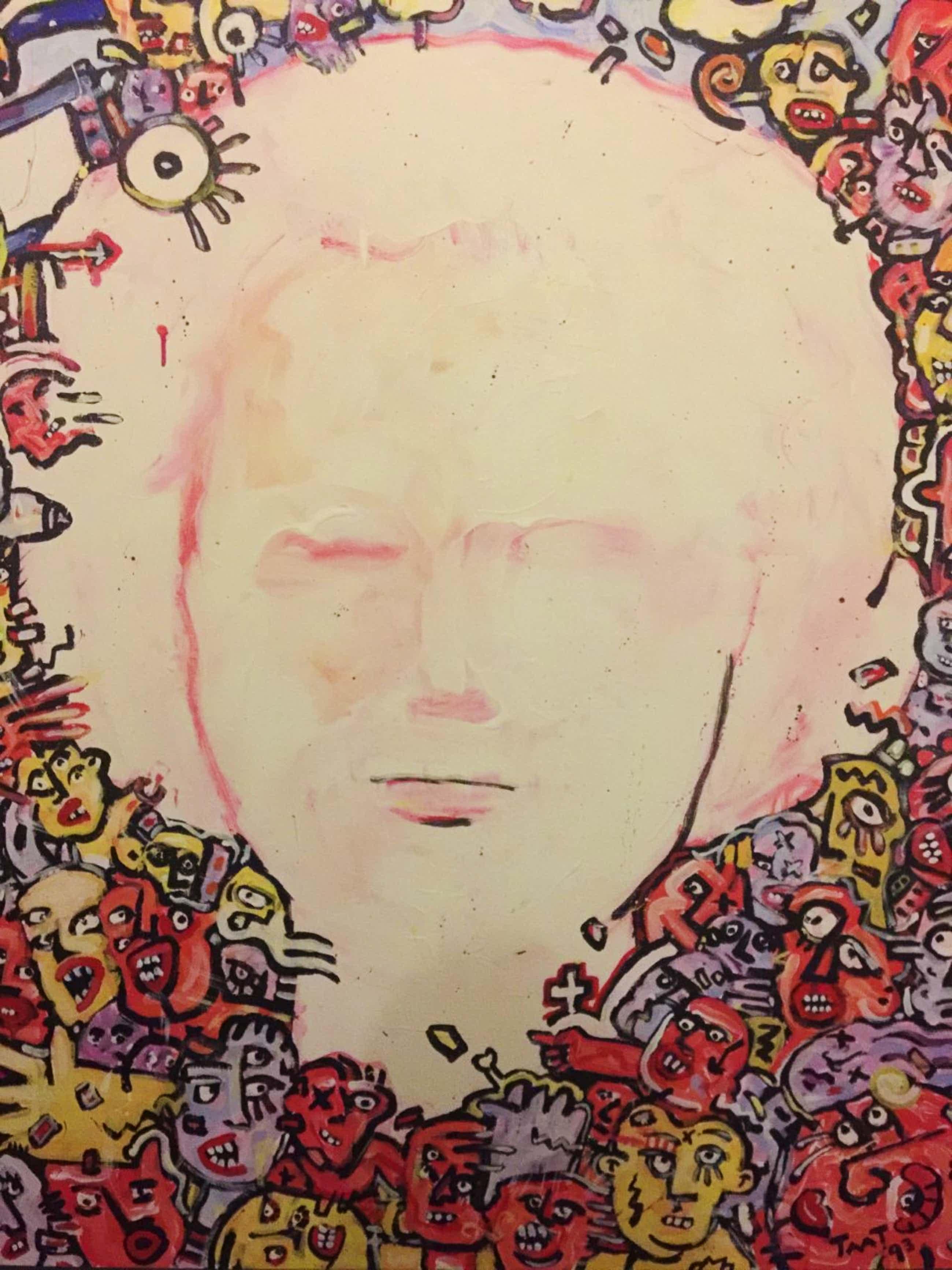 "Peter Tuinman - ""Pien I"" - acryl op doek (groot) uit 1993 kopen? Bied vanaf 150!"