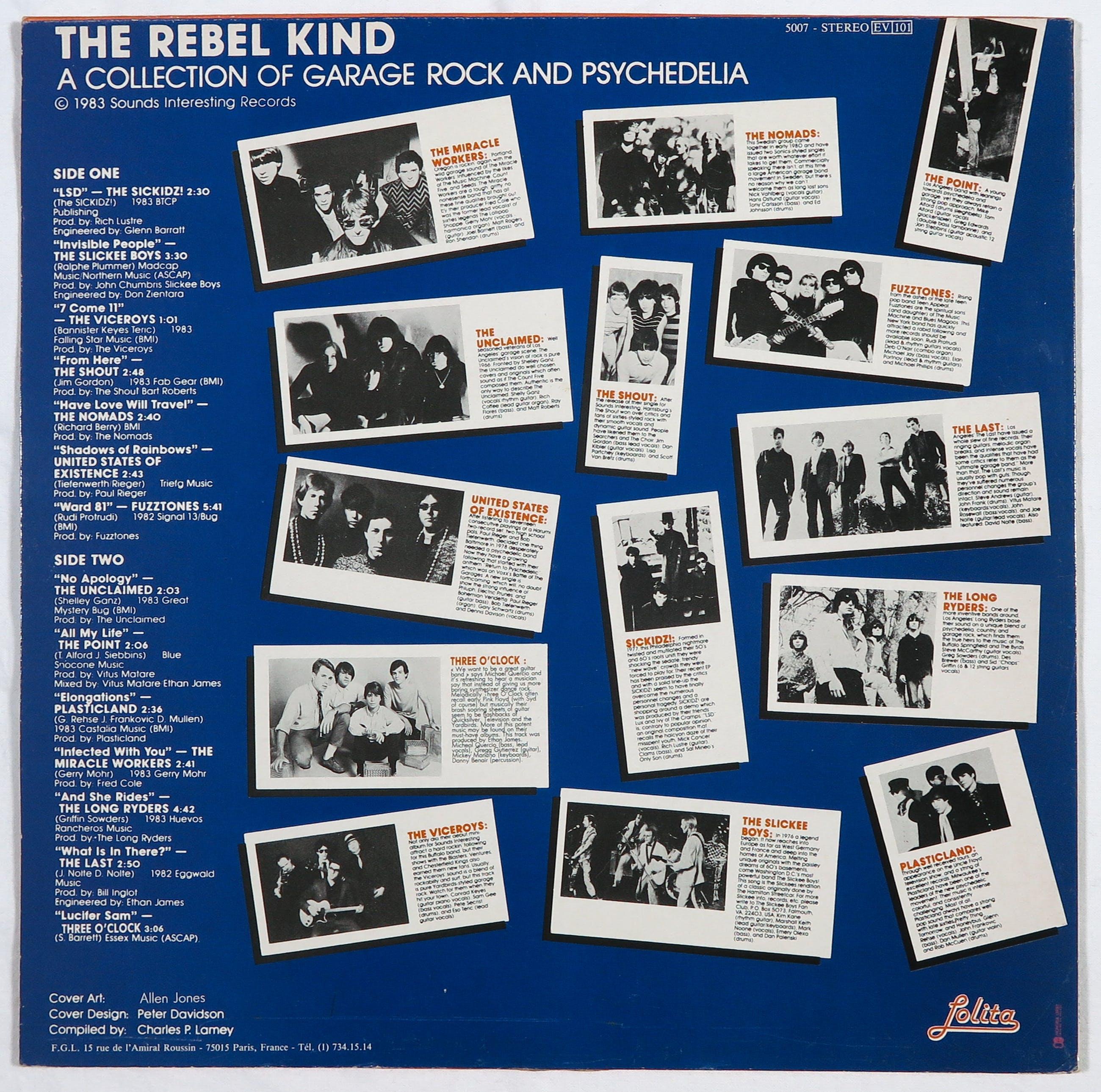 Allen Jones - Gesigneerde LP-hoes, The Rebel Kind kopen? Bied vanaf 1!