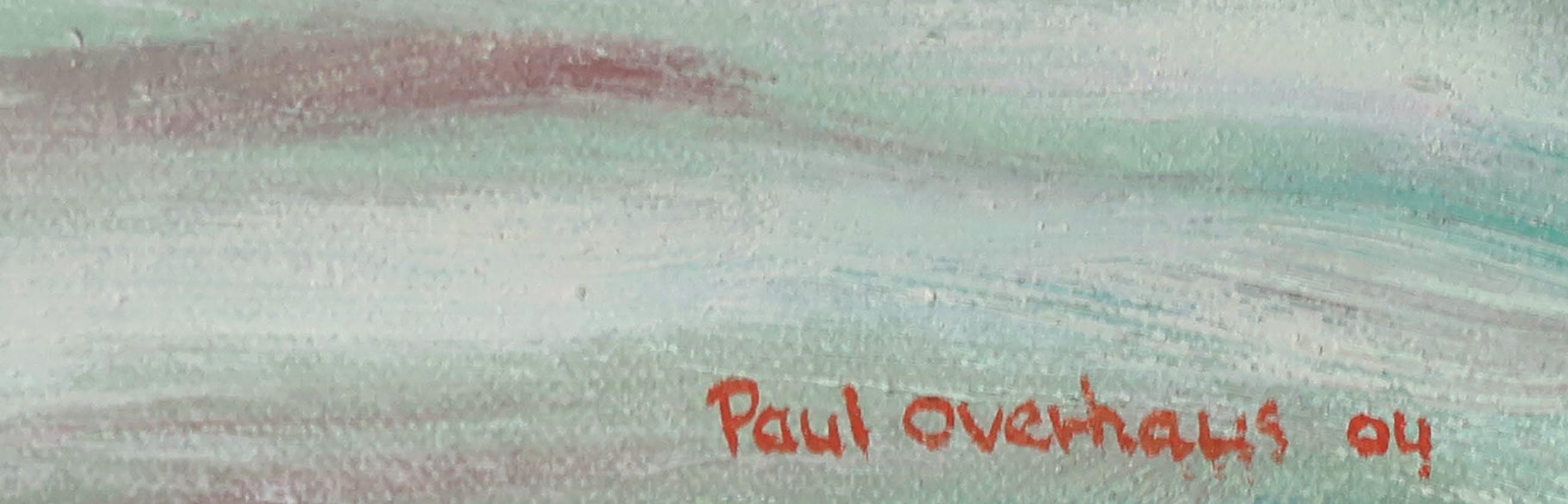 Paul Overhaus - Olieverf op doek, Polderweg - Ingelijst kopen? Bied vanaf 50!