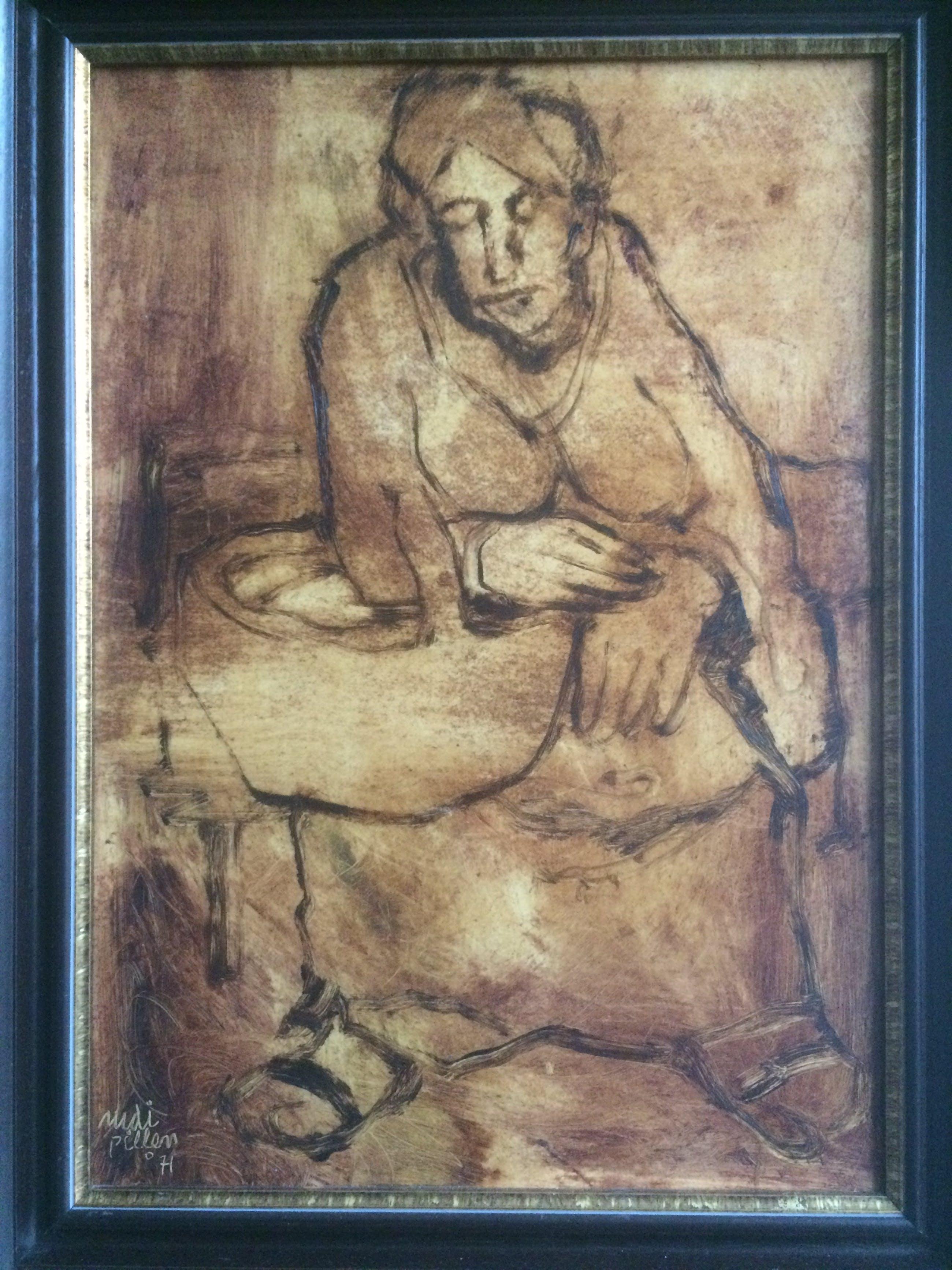 Rudi Pillen - Schilderij van een Vrouw kopen? Bied vanaf 550!