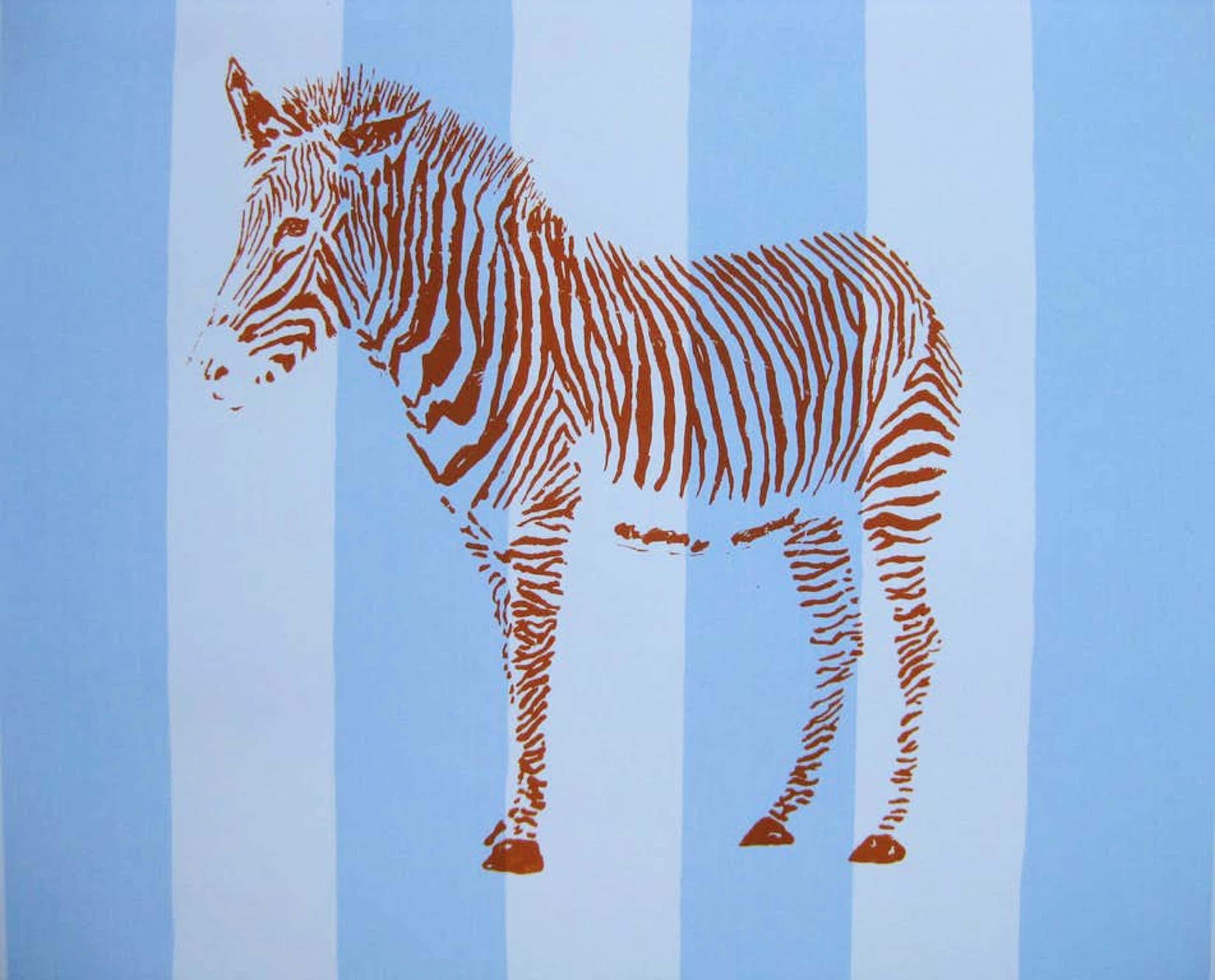 Jan de Koning - Zebra (zeefdruk) kopen? Bied vanaf 65!