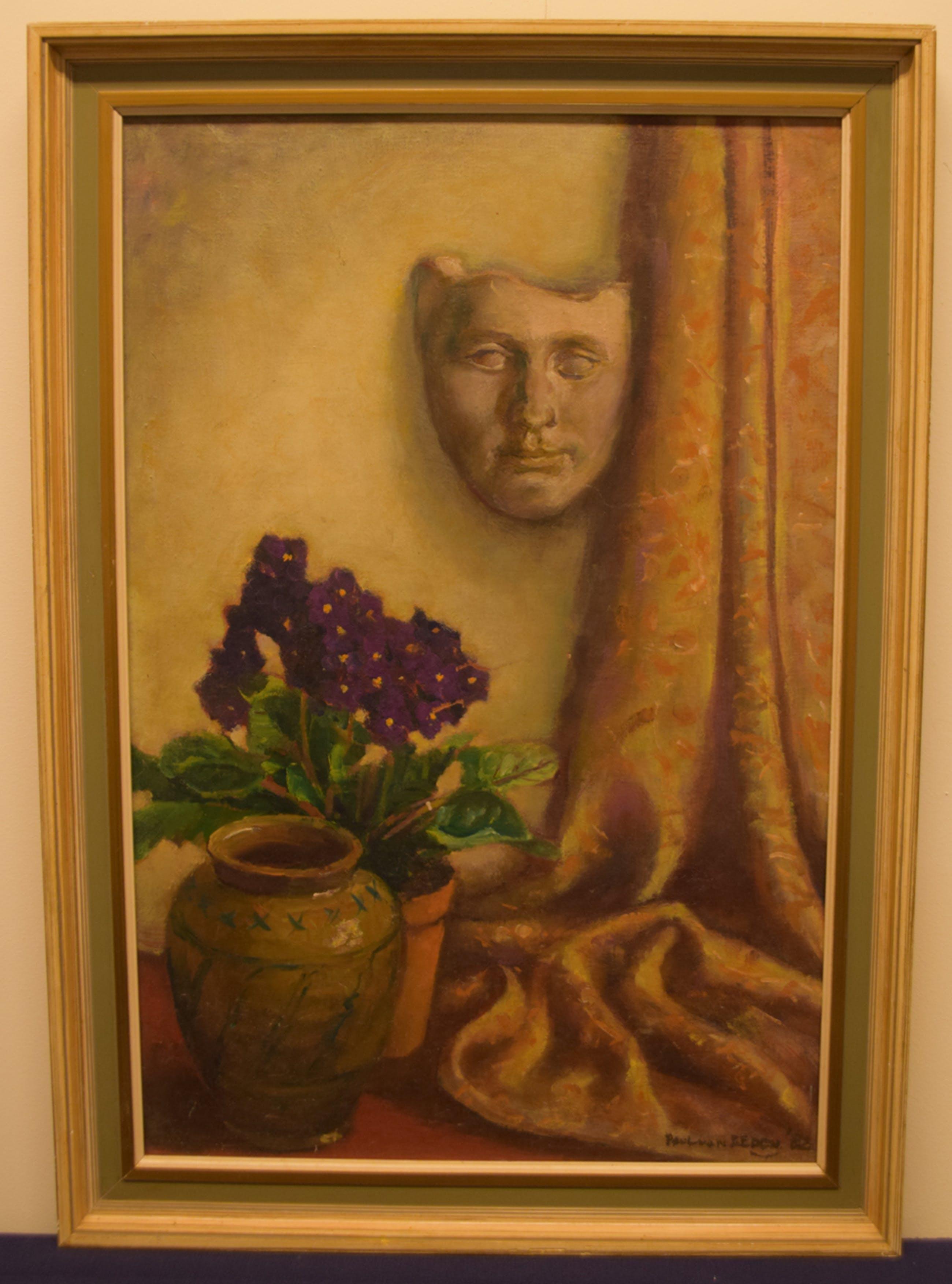 Paul van Eeden - Stilleven met gipsmasker, 1982 - olieverf op doek kopen? Bied vanaf 90!