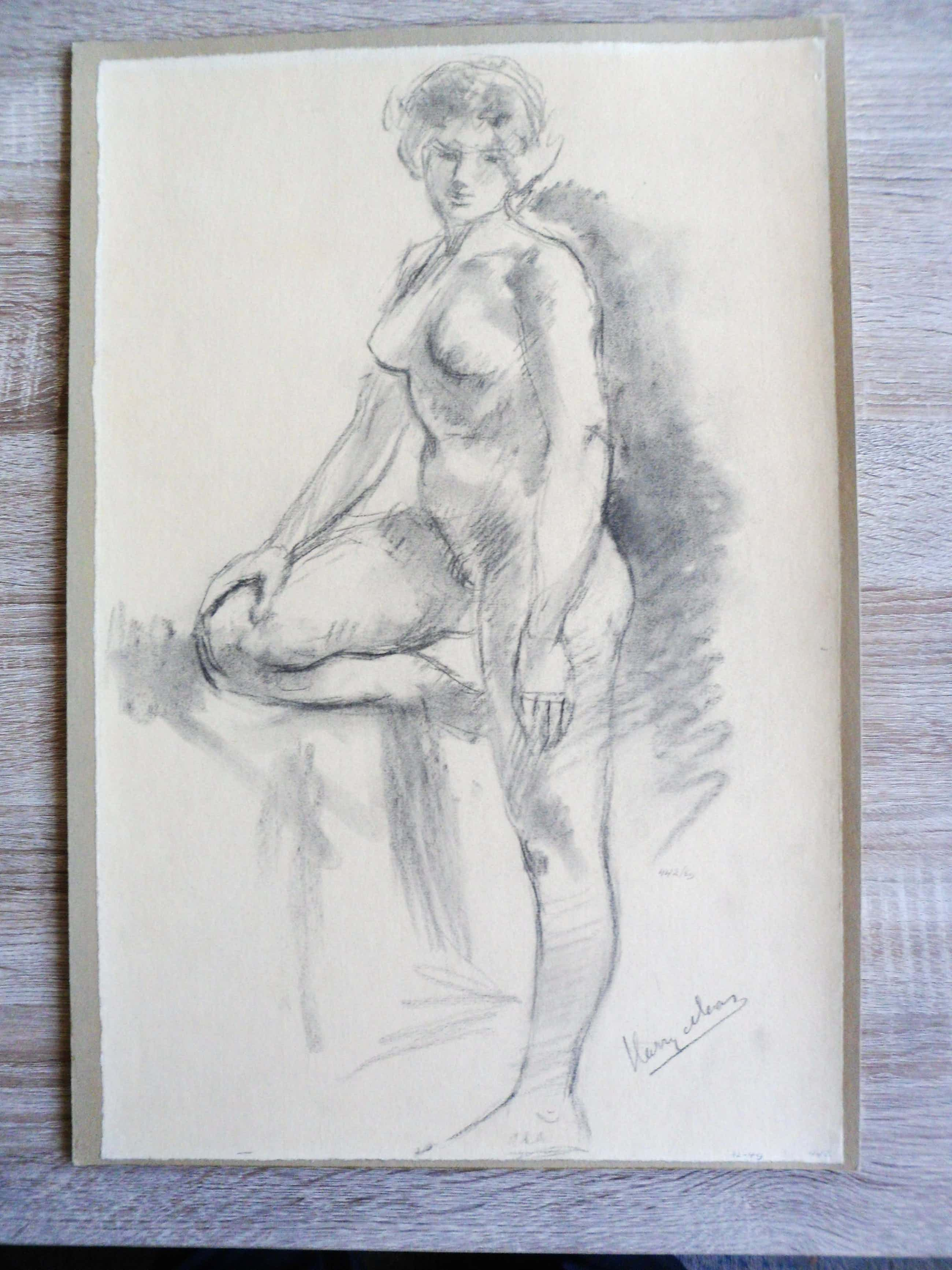 Harry Maas - Potloodtekening . Vrouwelijk naakt. kopen? Bied vanaf 70!
