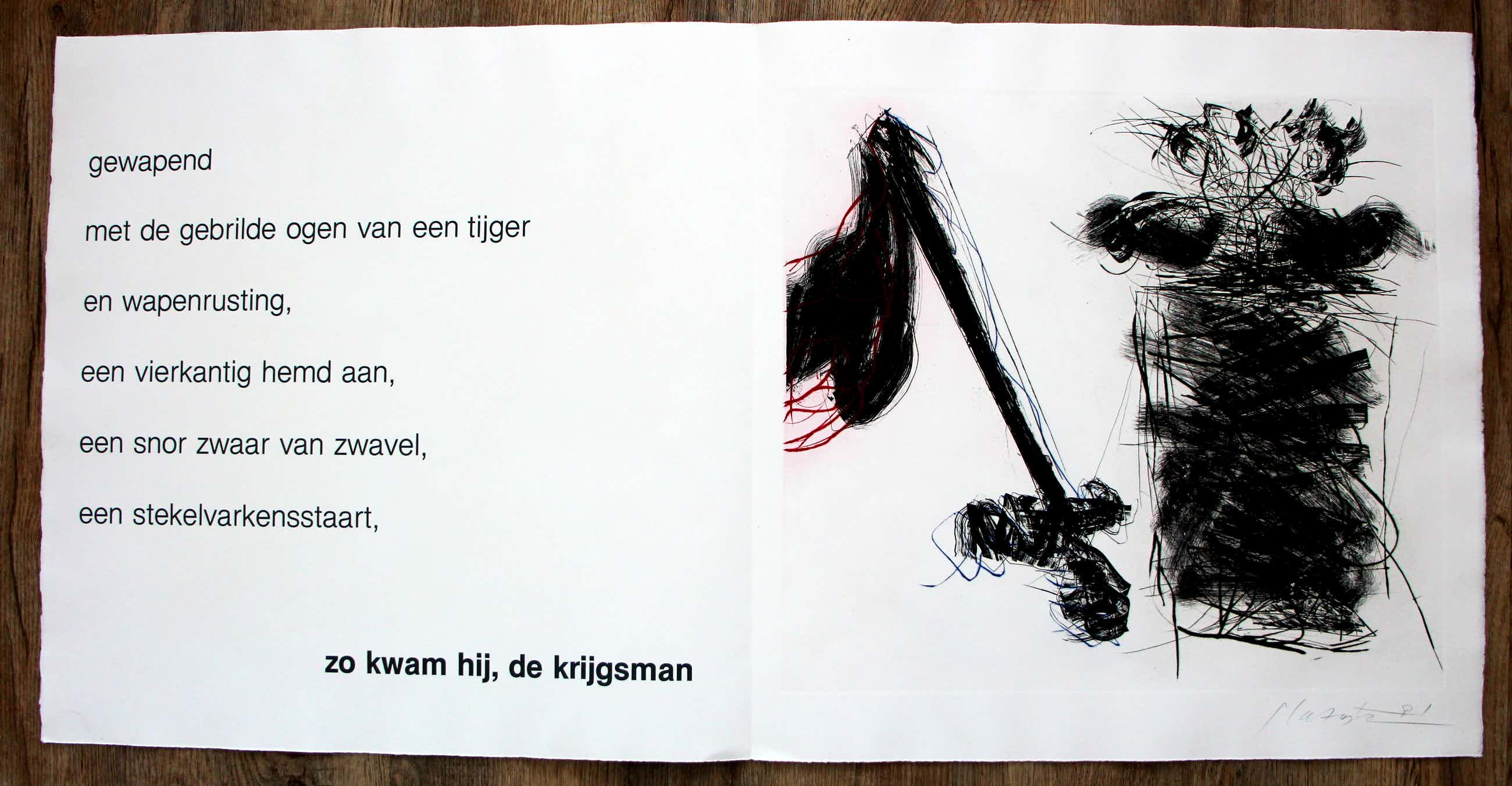 Ger Lataster - grote ets met tekstblad: Neruda - 1981 kopen? Bied vanaf 75!