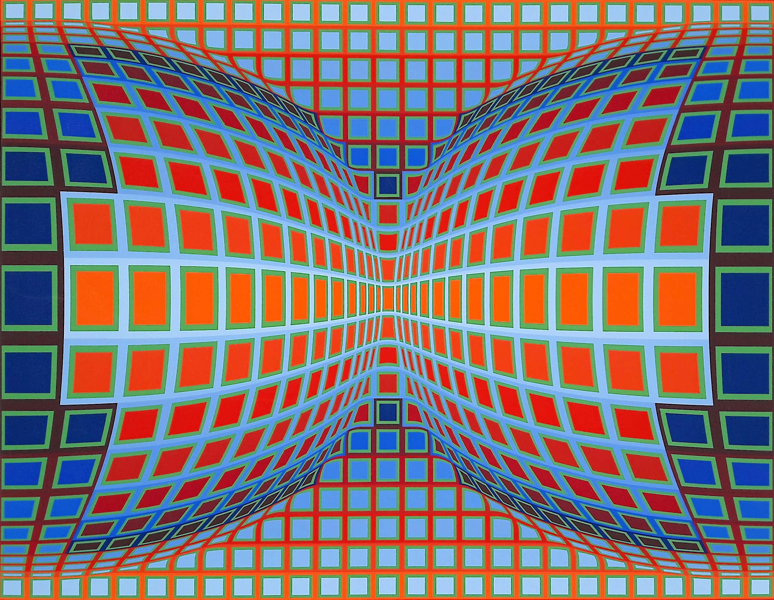 Victor Vasarely - Papillon, zeefdruk (groot) kopen? Bied vanaf 1000!
