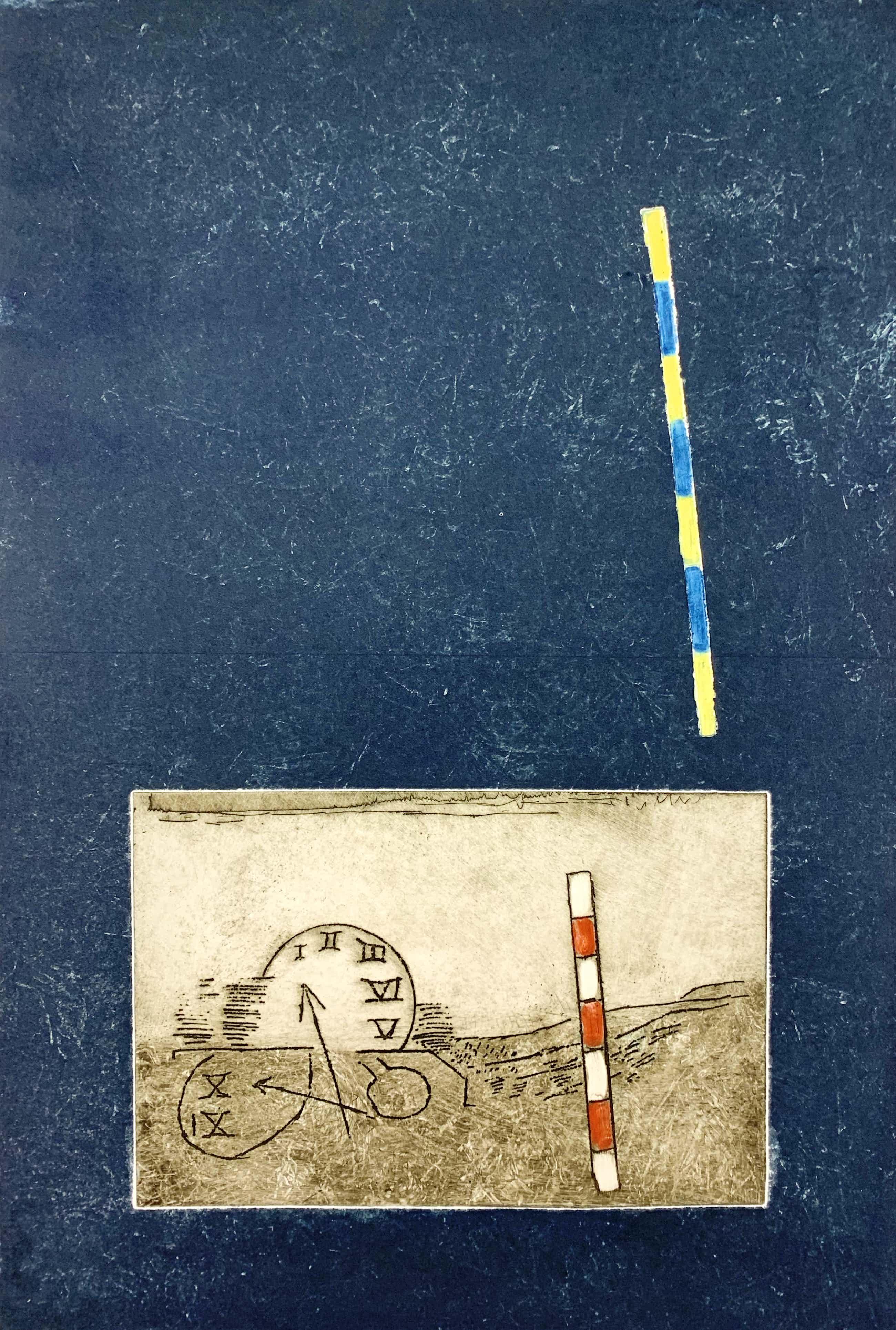 Jan Montyn - Kleurenets - 'La cage du temps II' - 1971 kopen? Bied vanaf 125!