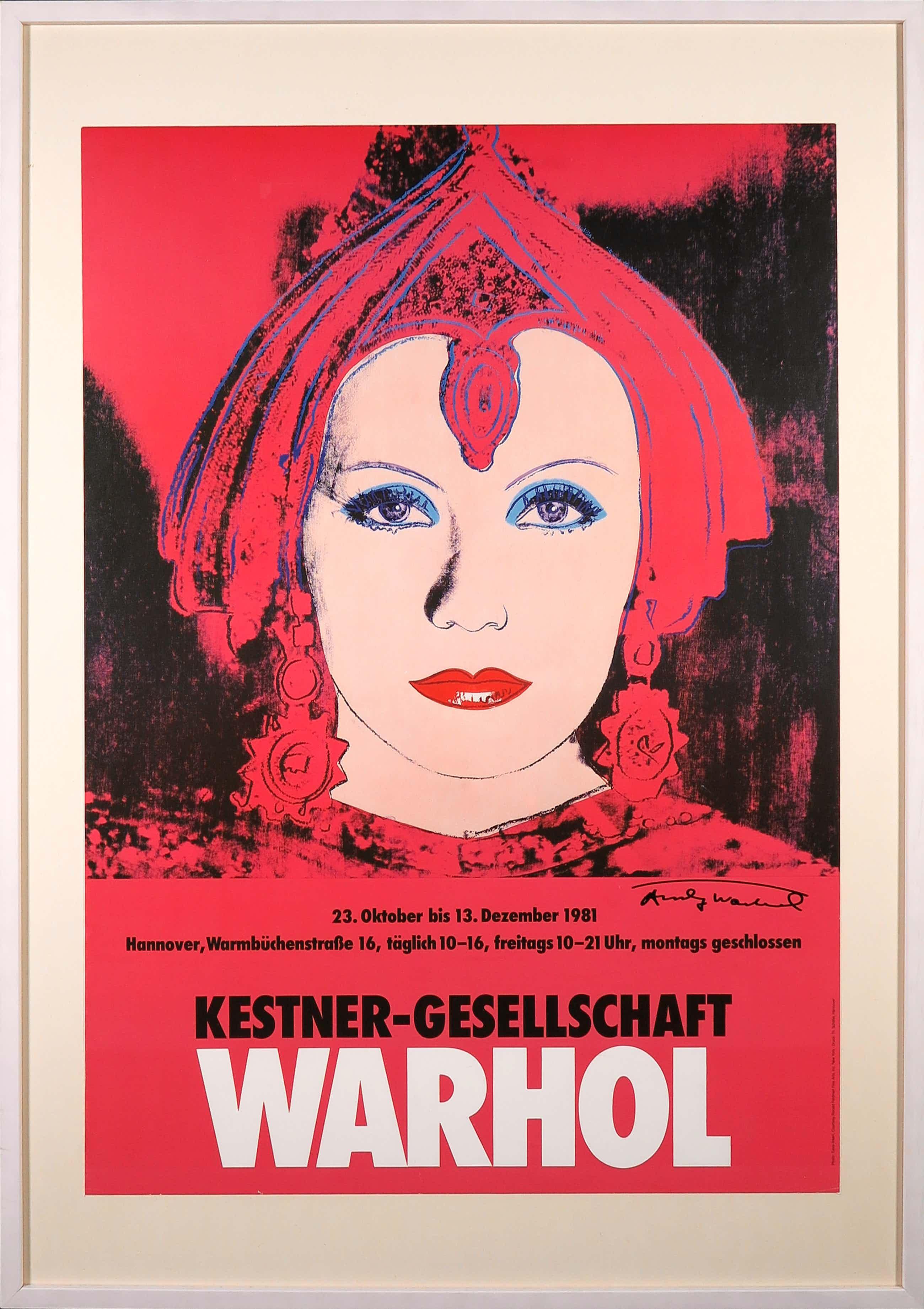 Andy Warhol - Handgesigneerd affiche The Star Kestner-Gesellschaft - Ingelijst (Groot) kopen? Bied vanaf 510!