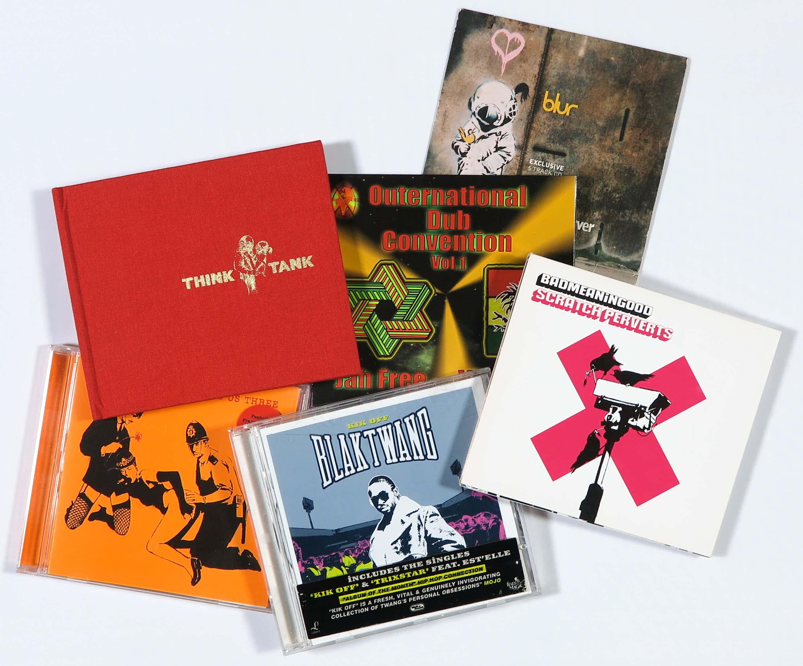 Banksy - Lot van zes CD's, o.a. Badmeaninggood vol. 4 door Scratch Perverts en Blaktwang kopen? Bied vanaf 150!