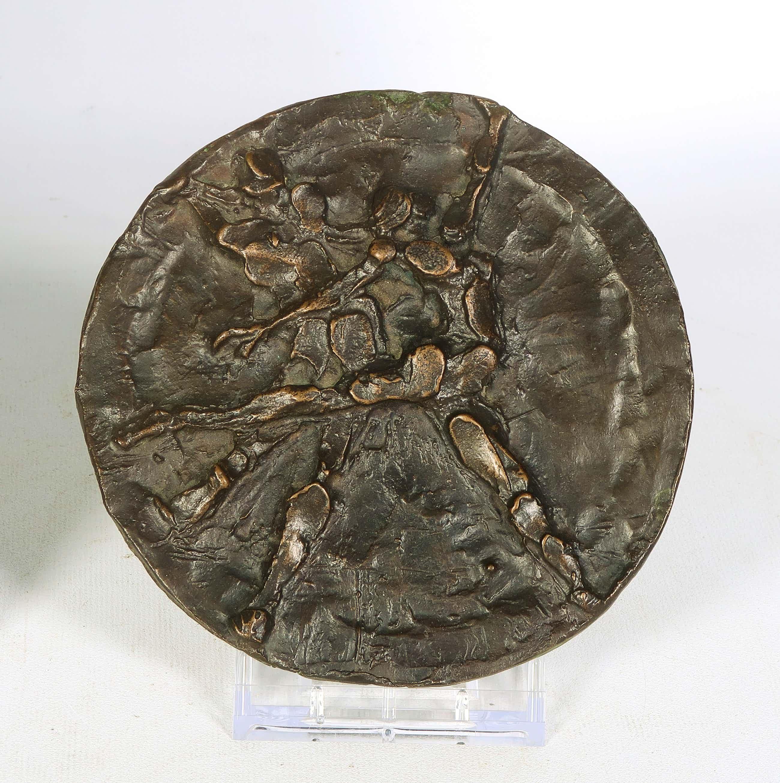 Jits Bakker - Bronzen plaquette, Dansers (Groot) kopen? Bied vanaf 50!