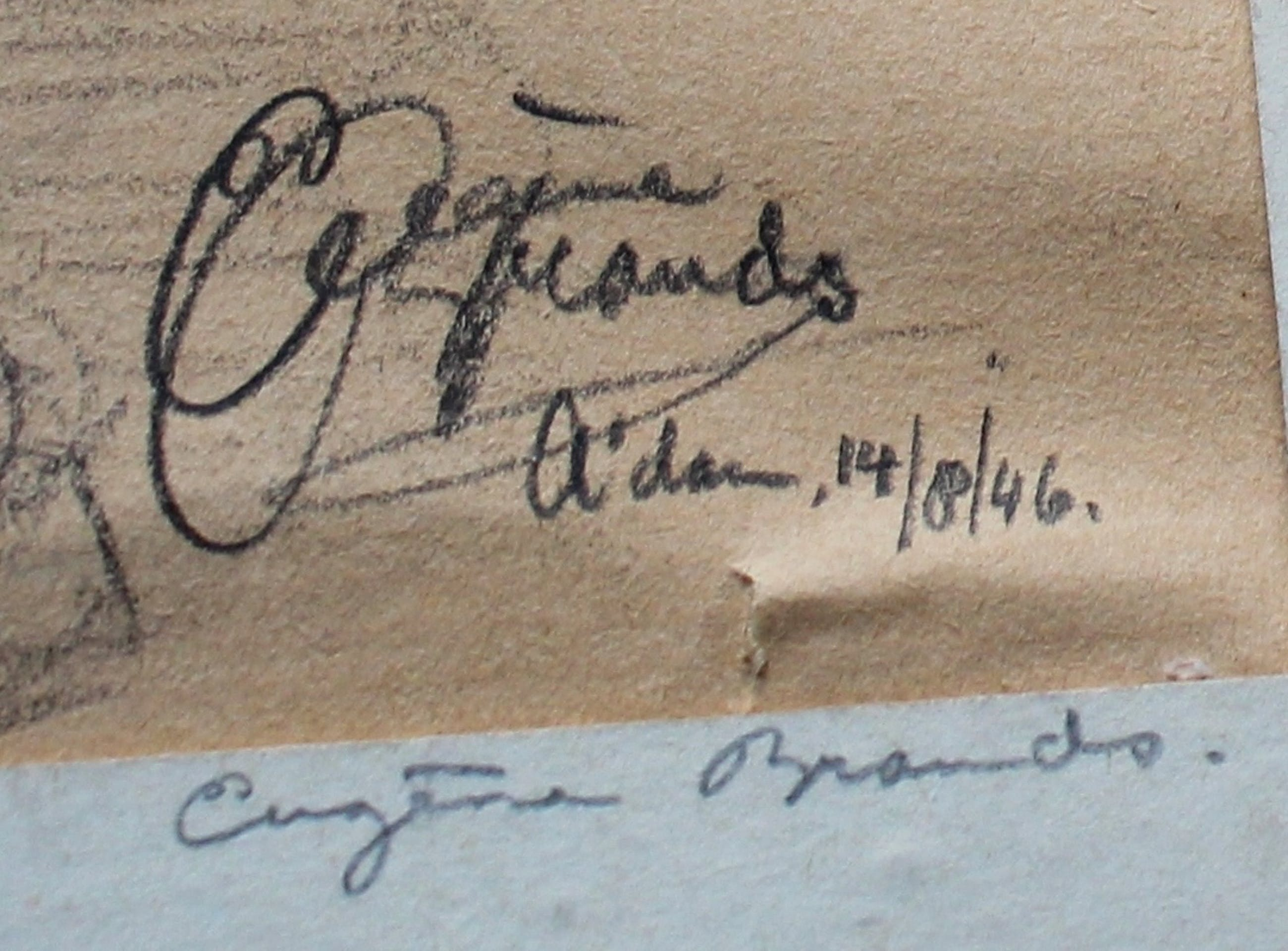 "Eugene Brands - Potloodtekening: ""Caricature of the poet A. van Pelt"" - 1946 kopen? Bied vanaf 750!"