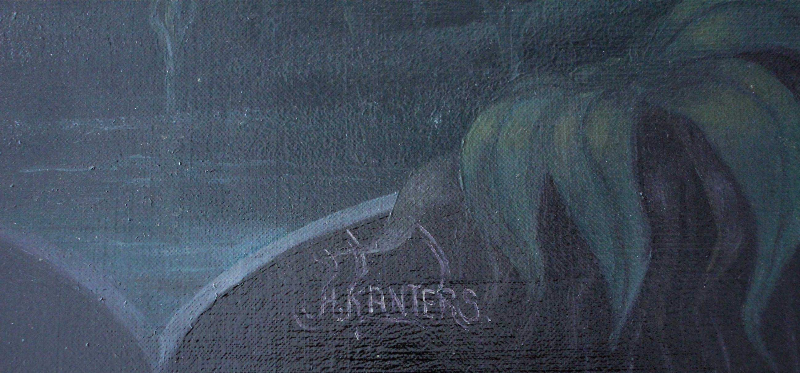 Hans Kanters - olieverf op doek: Nachtelijk landschap (1968- 1969) kopen? Bied vanaf 2750!