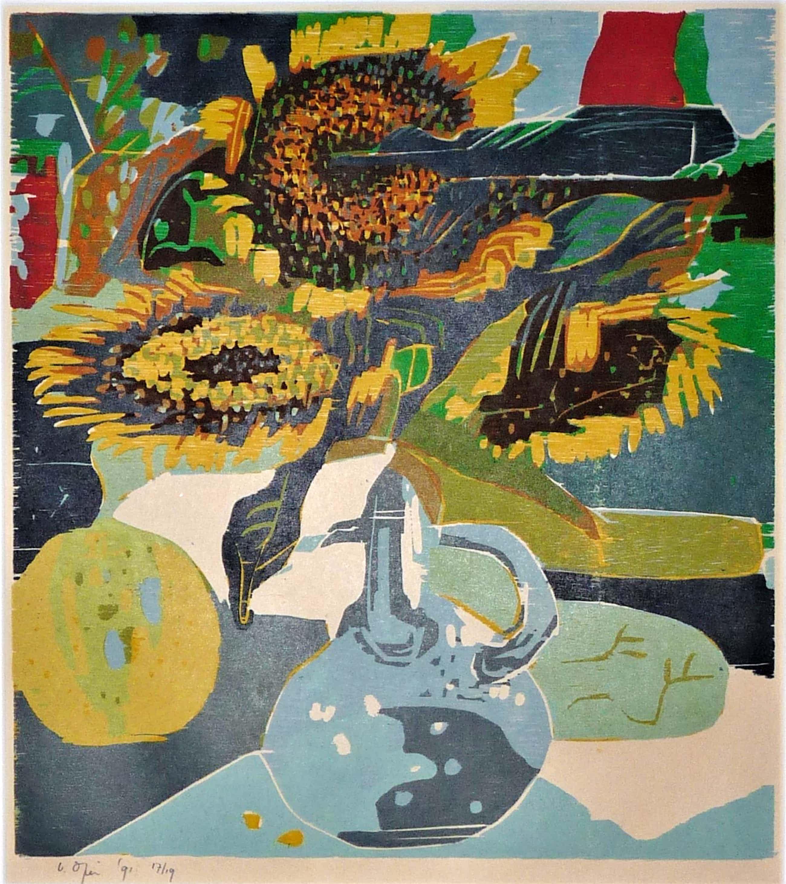 Vincent van Ojen - Zonnebloemen in vaas kopen? Bied vanaf 90!