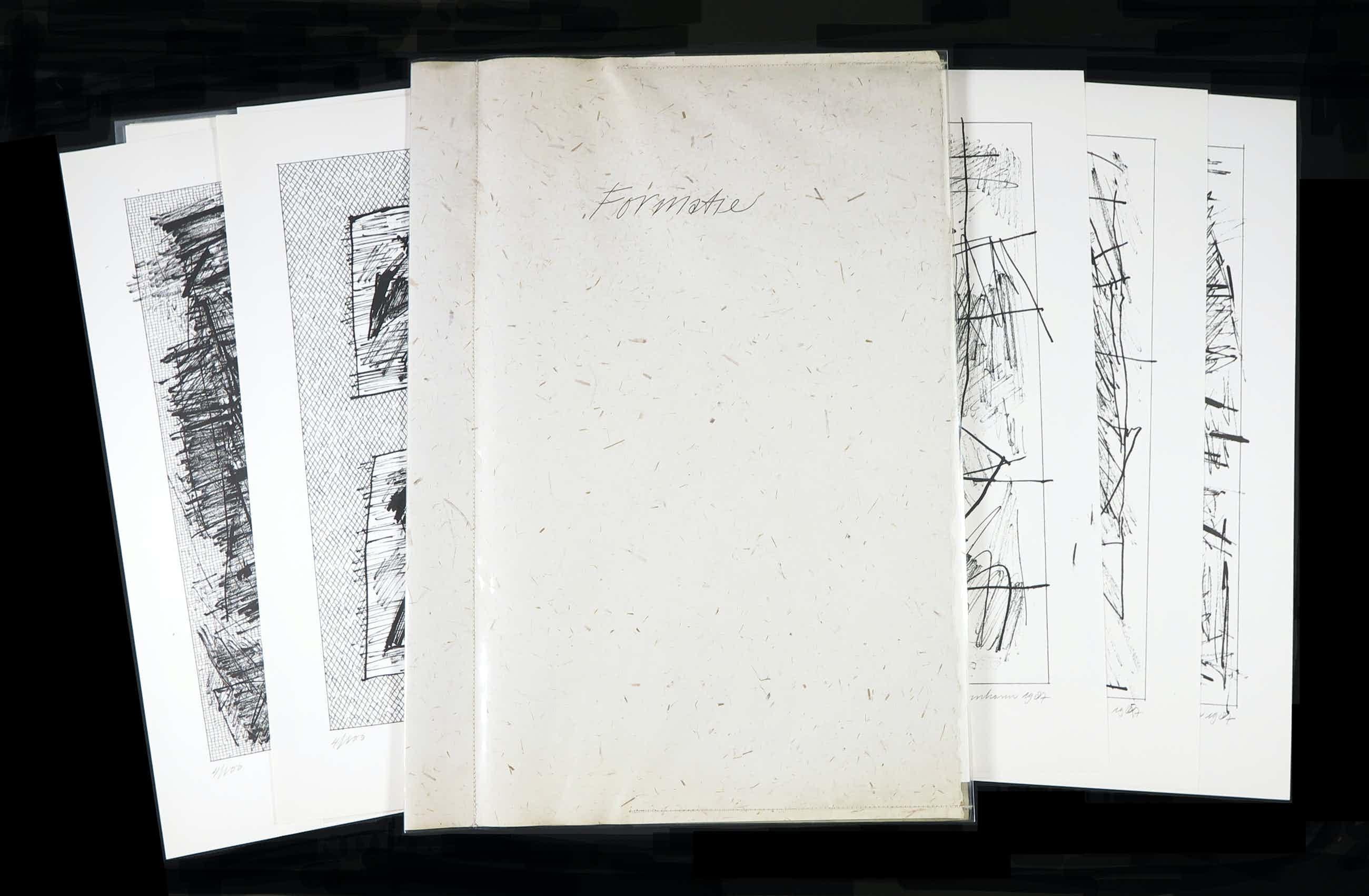 Jan Schoonhoven - Complete portfolio met 12 zeefdrukken, Formatie kopen? Bied vanaf 2087!