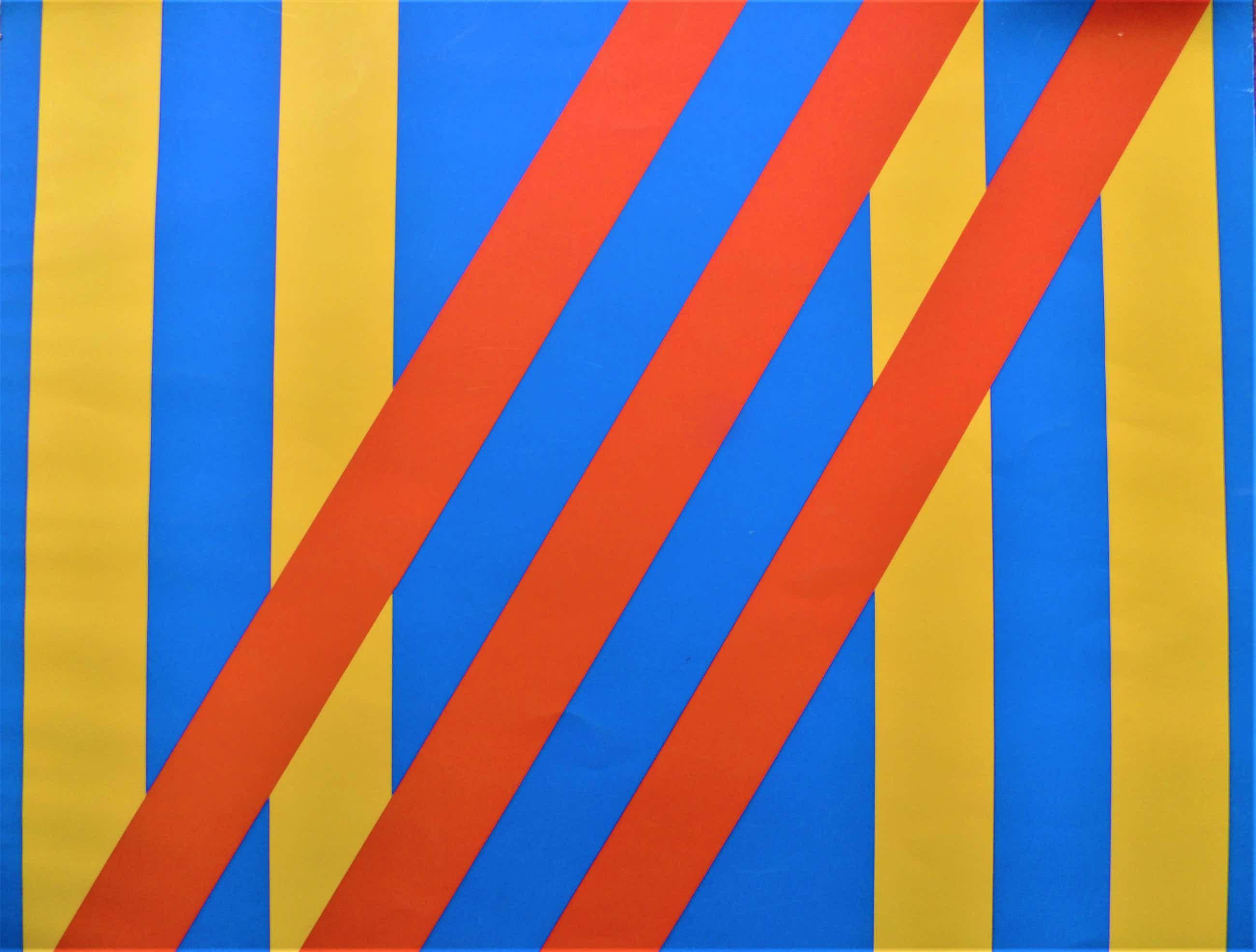 Bob Bonies - abstracte zeefdruk 2 kopen? Bied vanaf 75!