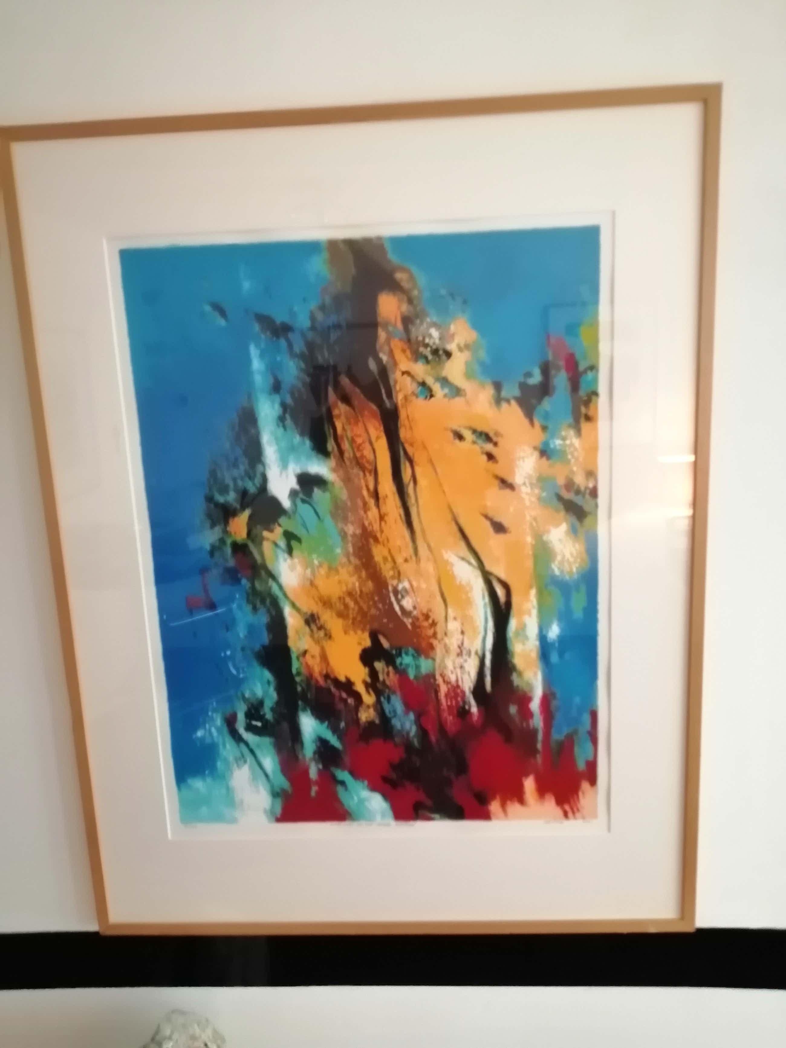 Mattie Schilders - Groot abstract werk uit 2001 , foutje moet 100 euro zijn kopen? Bied vanaf 50!