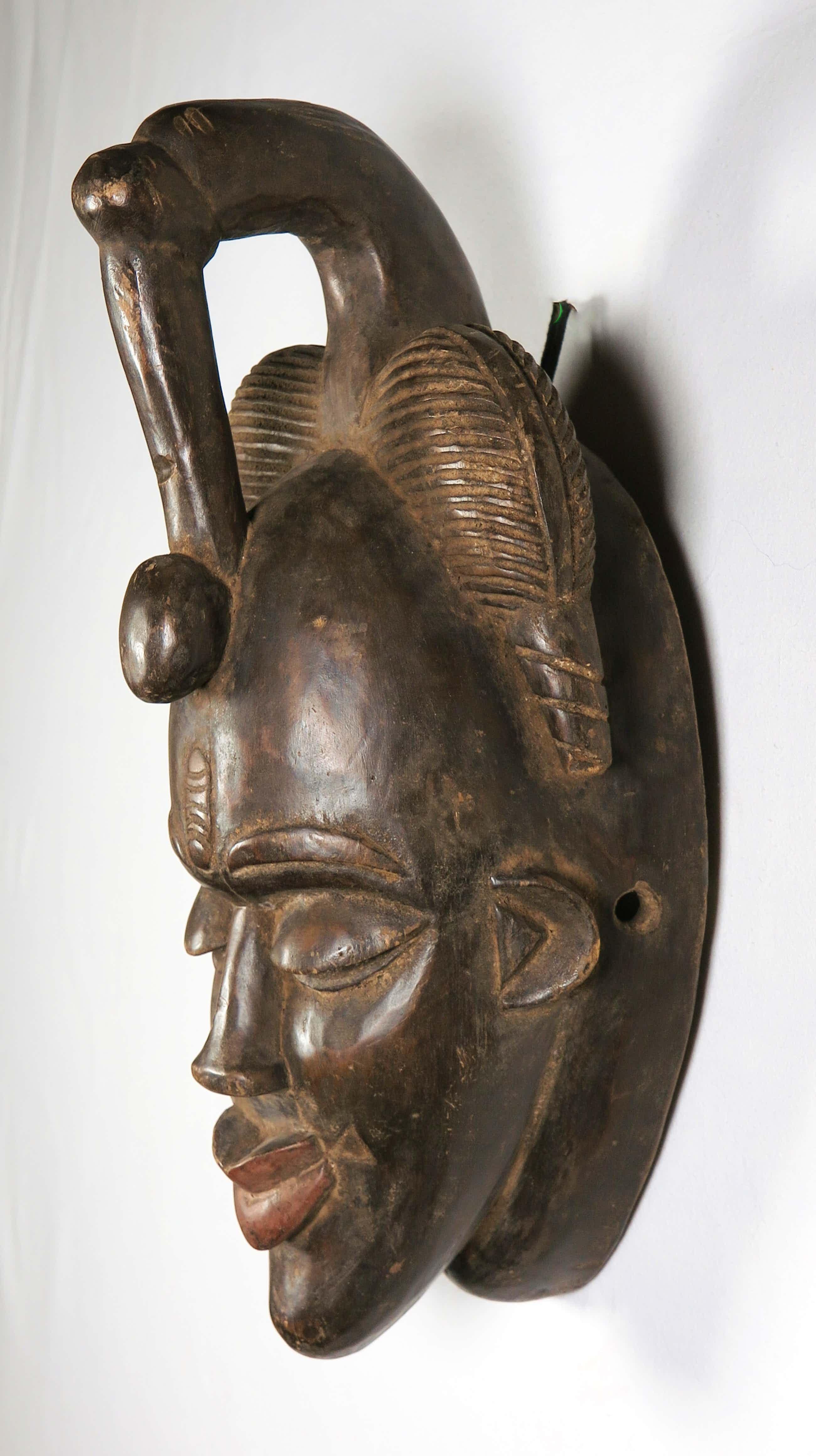 Yohure - Houten masker met gedetailleerde haardracht en vogel kopen? Bied vanaf 83!