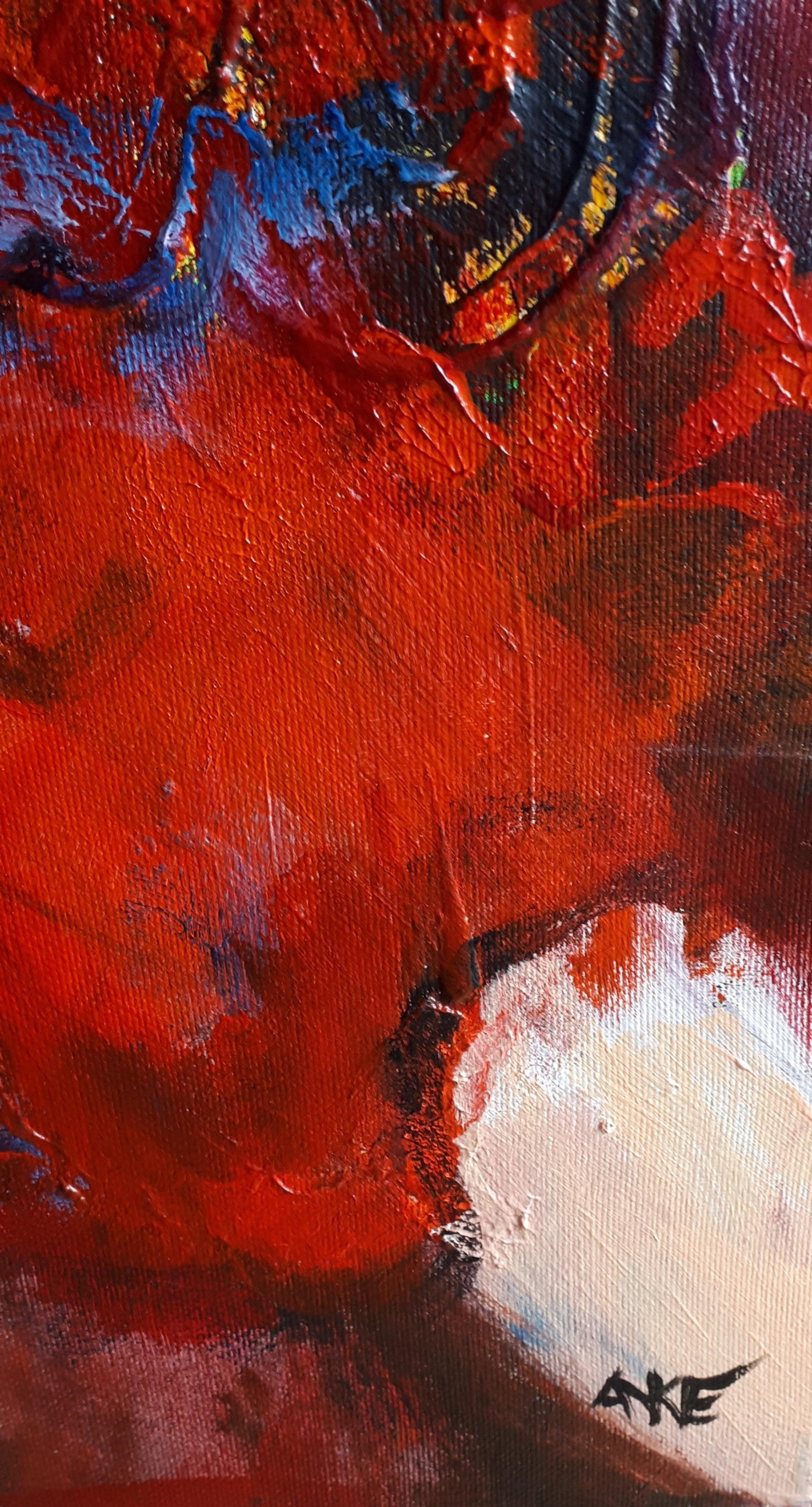 Anke Peddemors - flamenco rood 80x100 kopen? Bied vanaf 75!