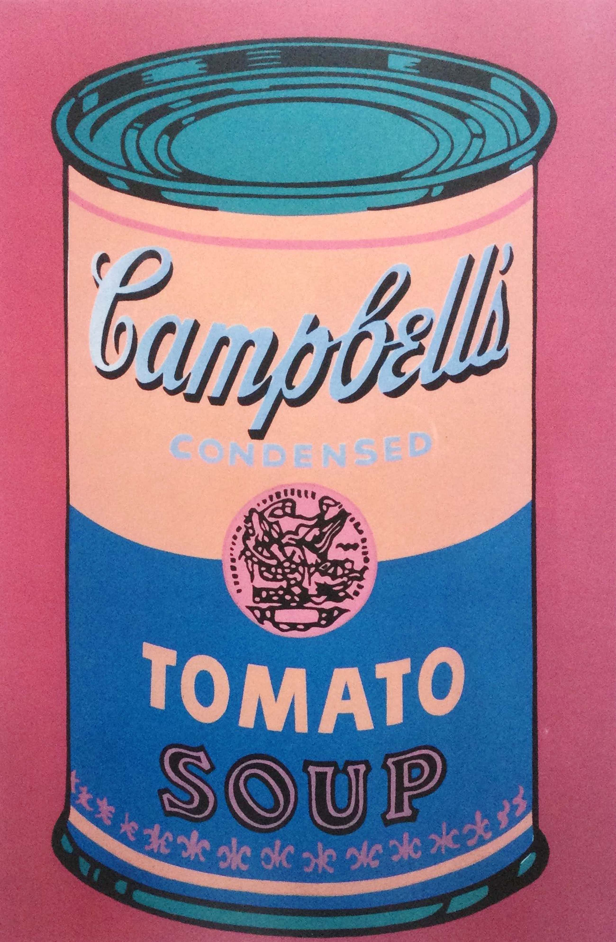Andy Warhol - Campbell's Tomato Soup (pink)   reproductie of ...? kopen? Bied vanaf 360!