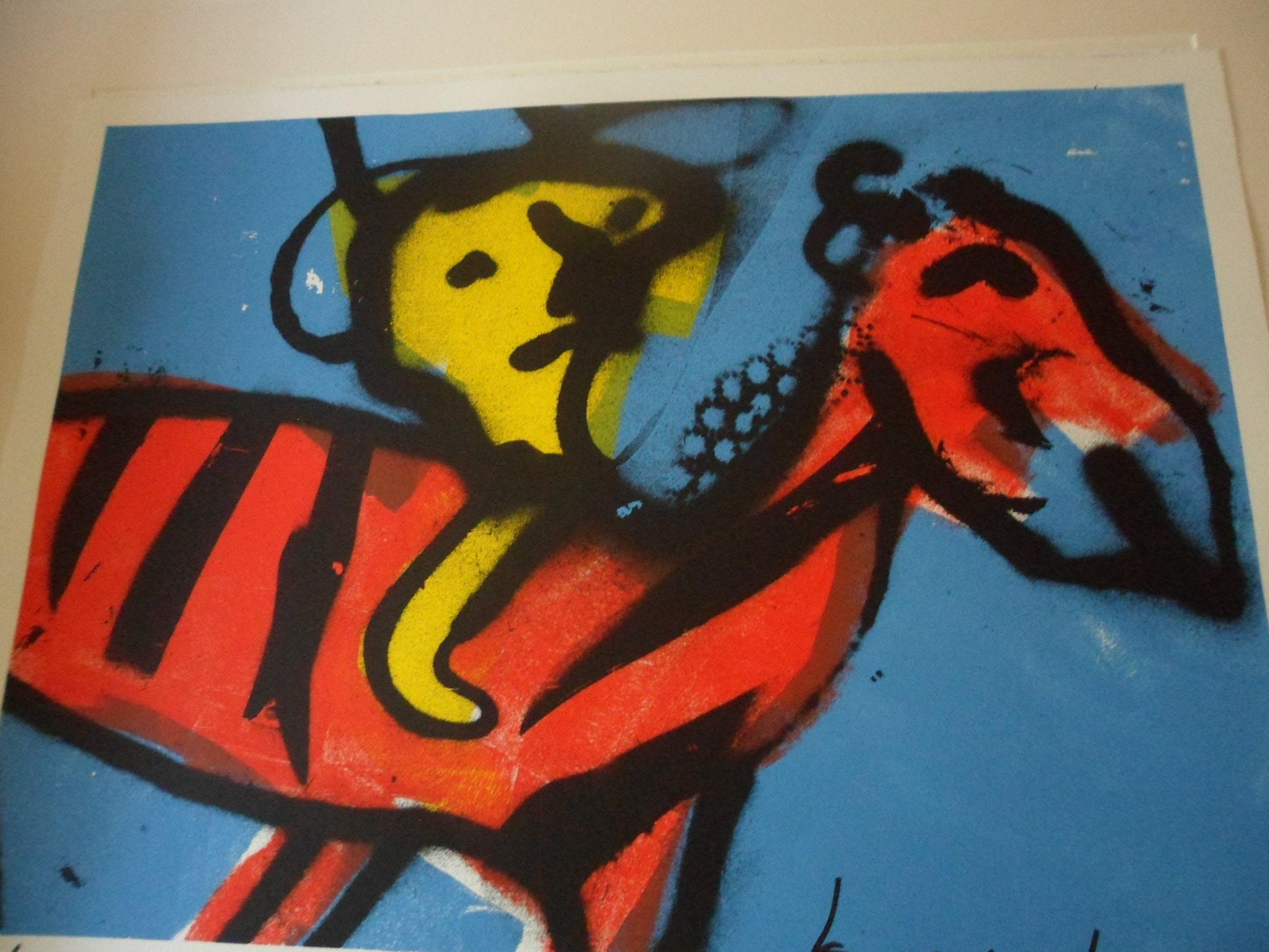 Herman Brood - Herman brood - zeefdruk: Zebra kopen? Bied vanaf 150!
