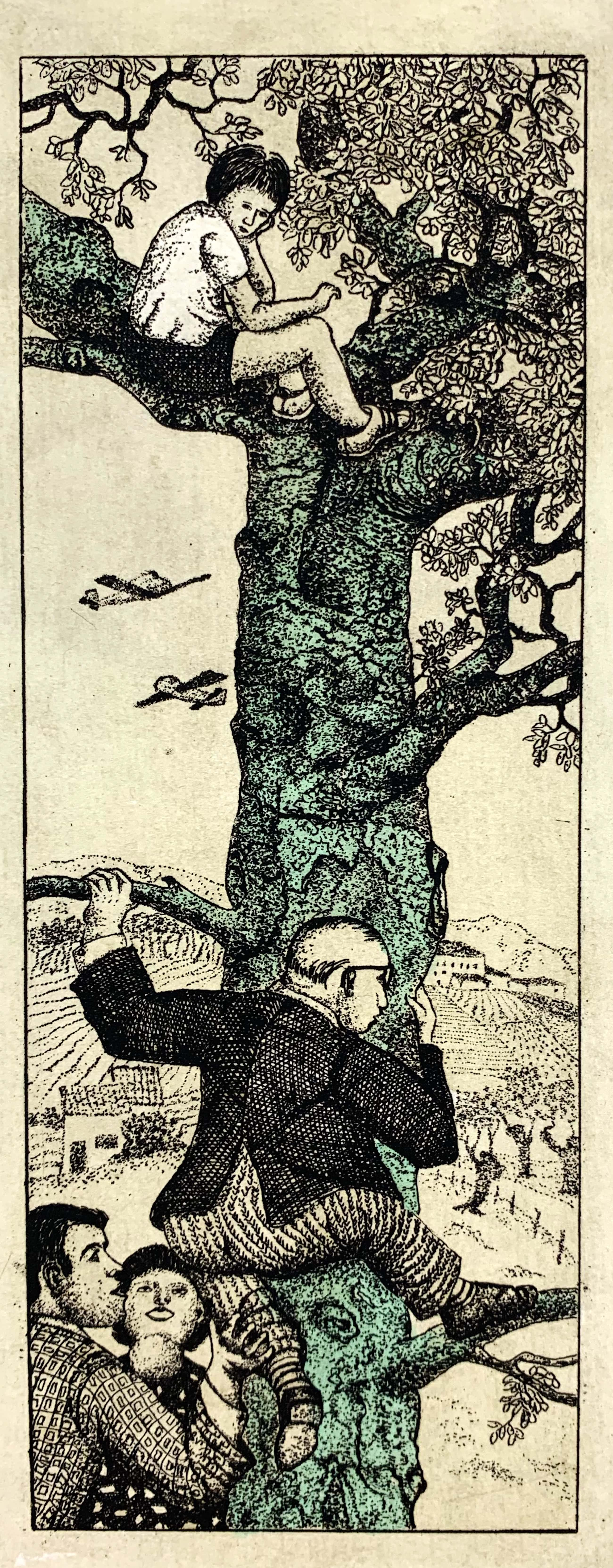 Carla Kleekamp - ets - 'De boom van Remco Campert' - eigen druk 1980 kopen? Bied vanaf 48!