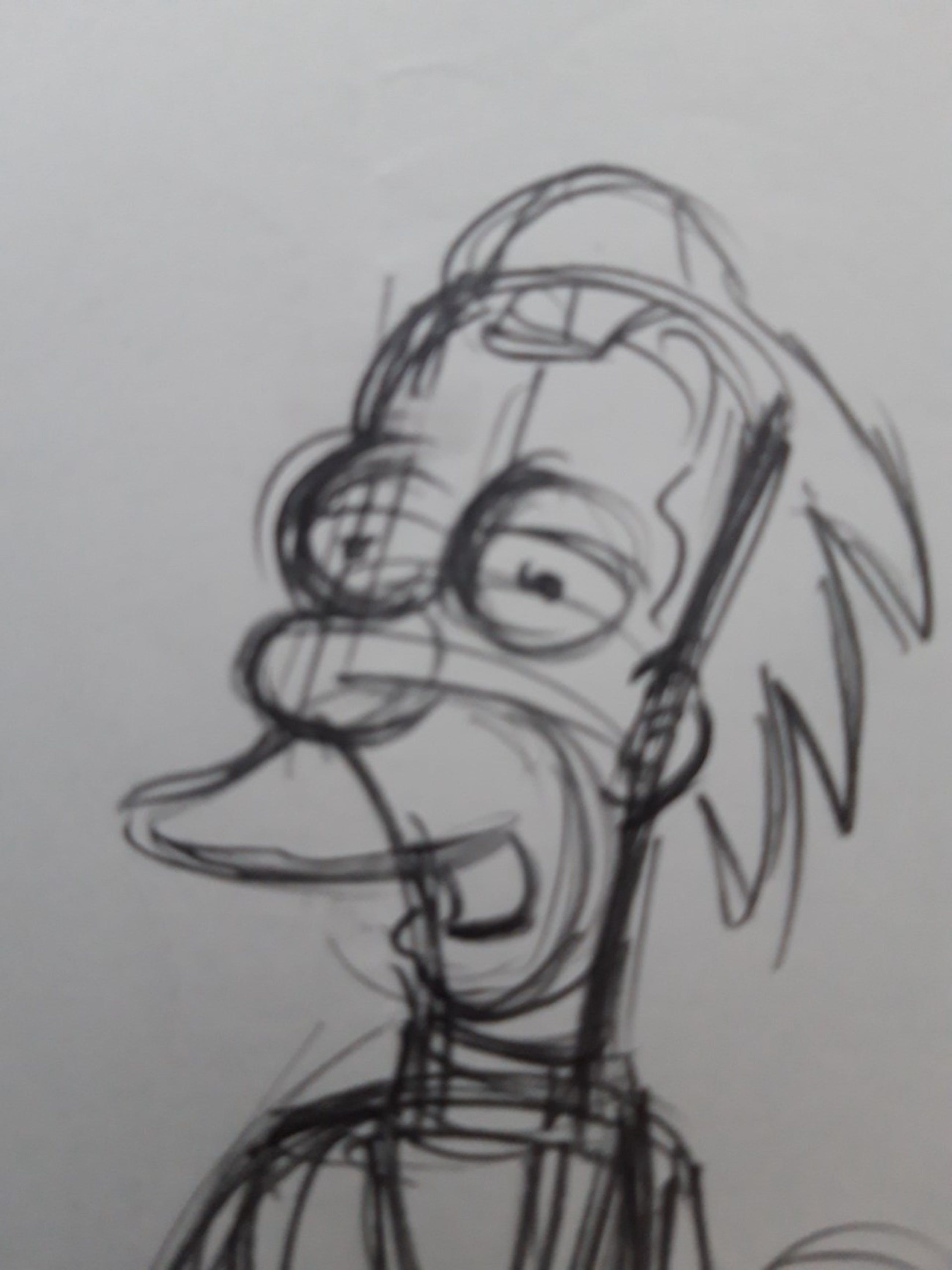 Matt Groening - originele productie tekening, The Simpsons, Lenny kopen? Bied vanaf 1!