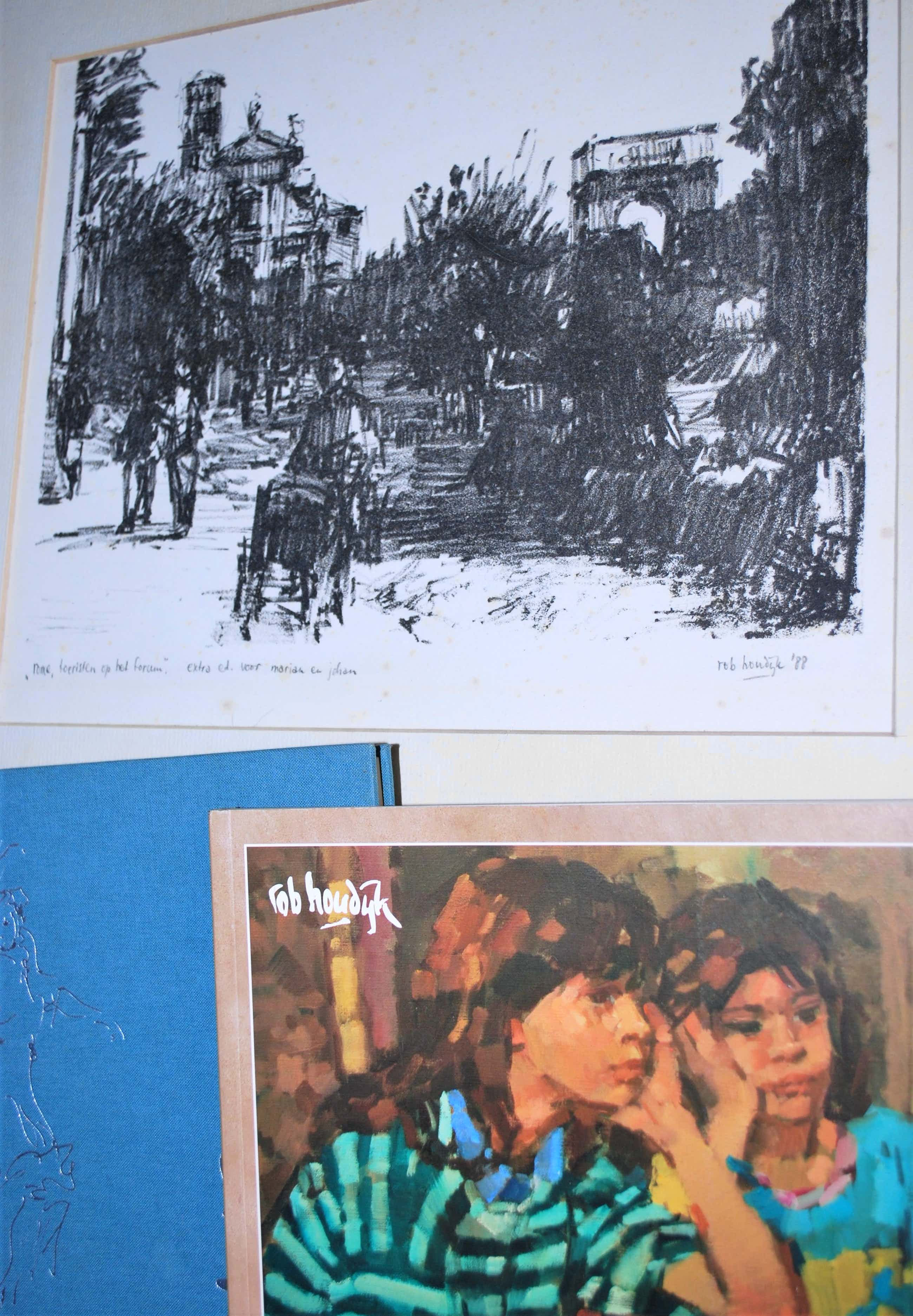 Rob Houdijk - Rome, het Forum - ingelijste litho, speciale editie 1988 - incl. 2 kunstboeken! kopen? Bied vanaf 55!