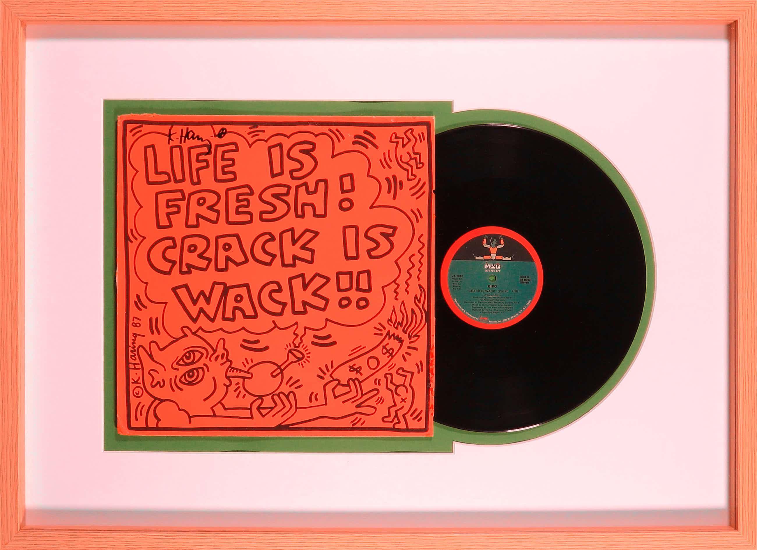 Keith Haring - Handgesigneerd album: Bipo - Crack is Wack!! - Ingelijst kopen? Bied vanaf 591!