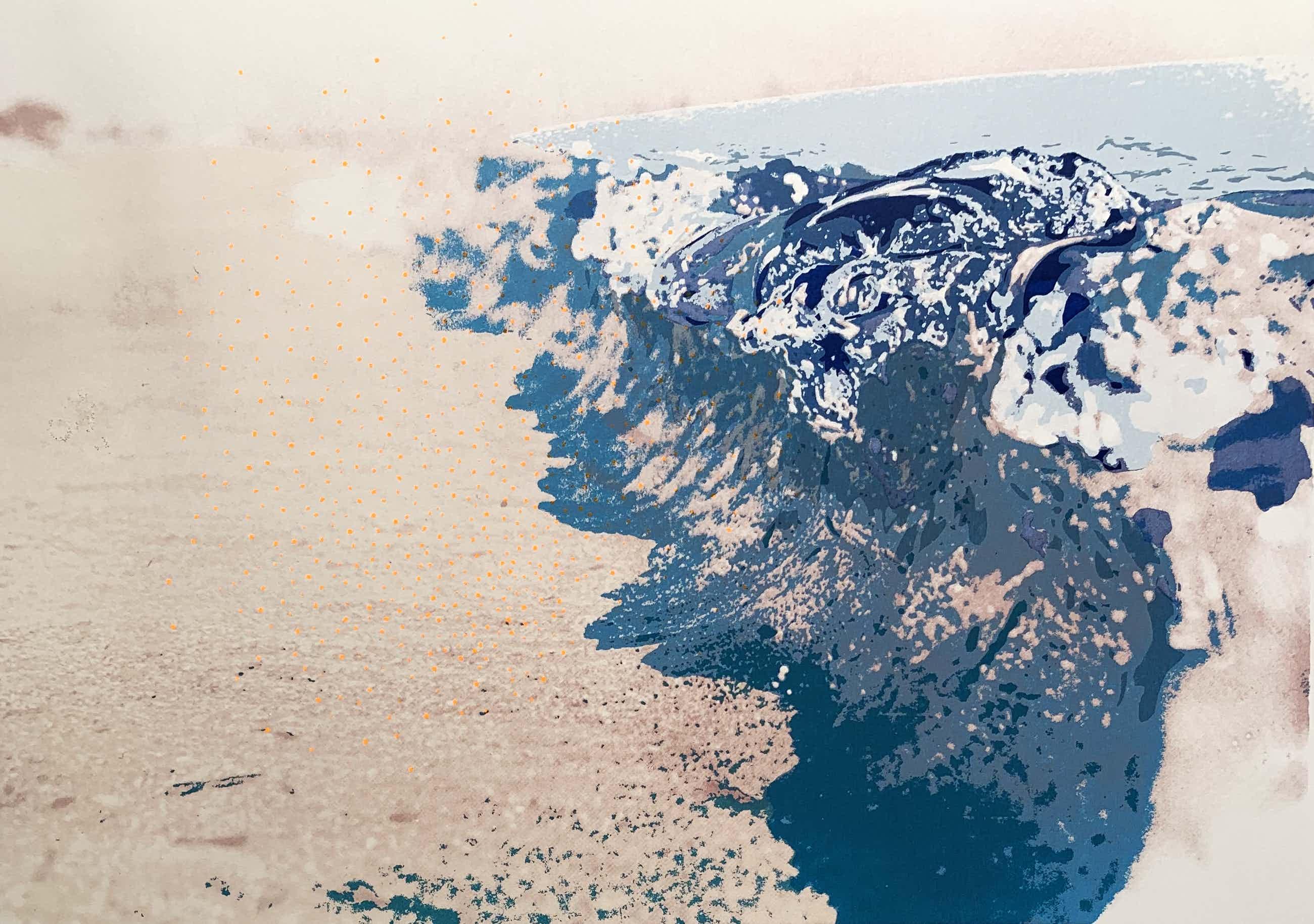 Marian Plug - kleurenzeefdruk | 'Zee' | 1980 kopen? Bied vanaf 50!