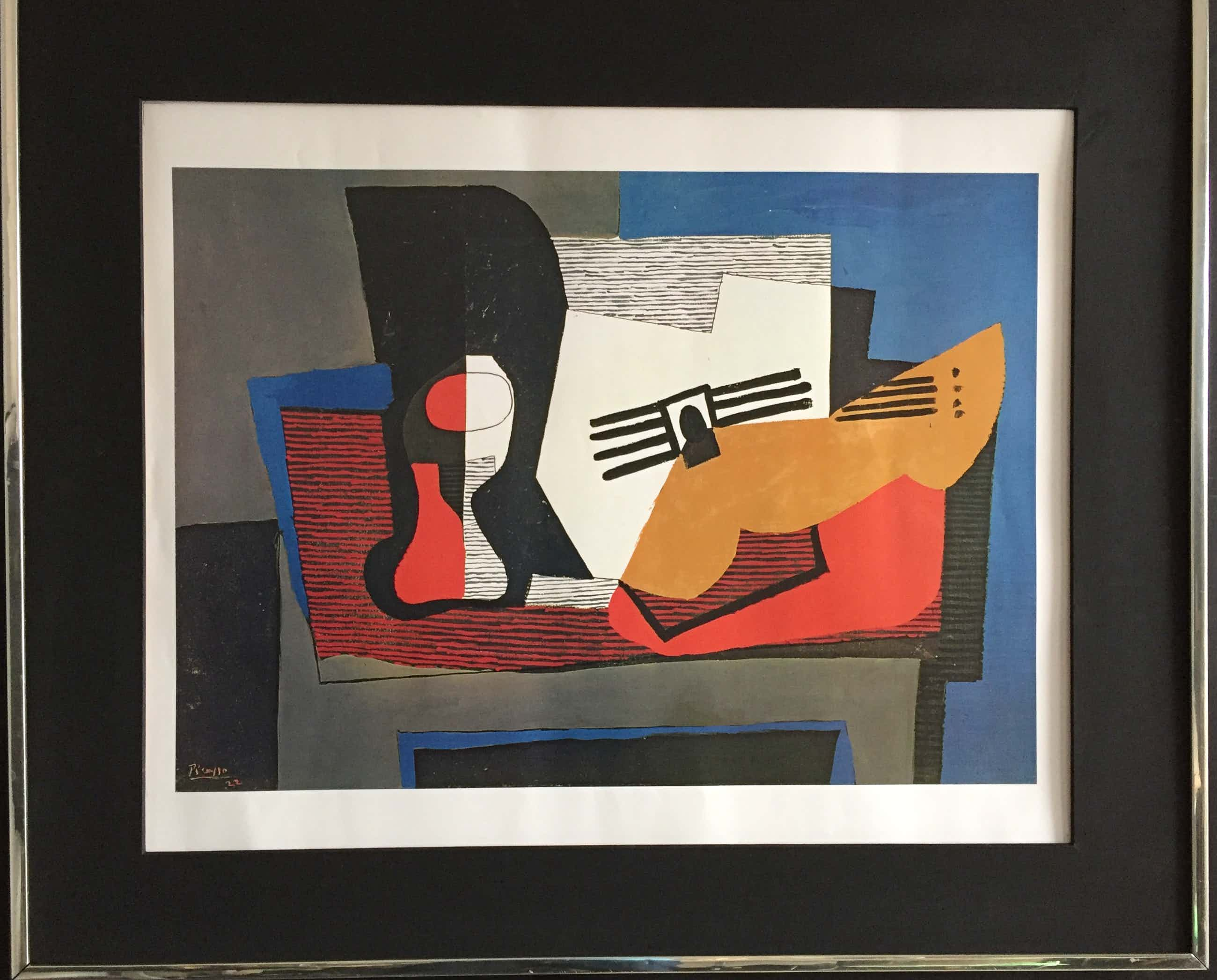 Pablo Picasso - Still Life with Guitare 1922. kopen? Bied vanaf 135!