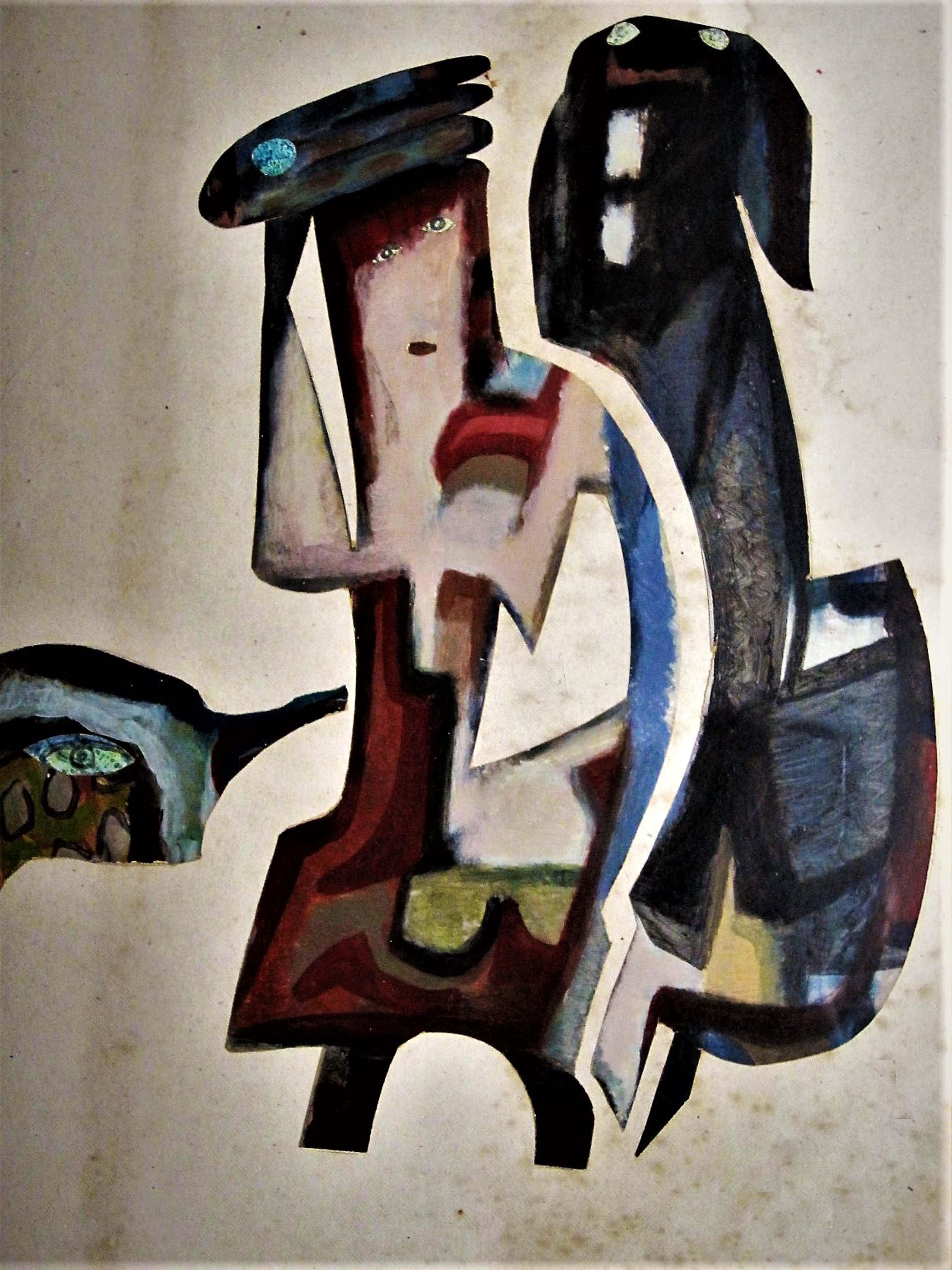 """Jaap de Carpentier - Markant Abstract-Expressionistische jaren 60 Collage zg. """"CarpKunst"""" kopen? Bied vanaf 60!"""