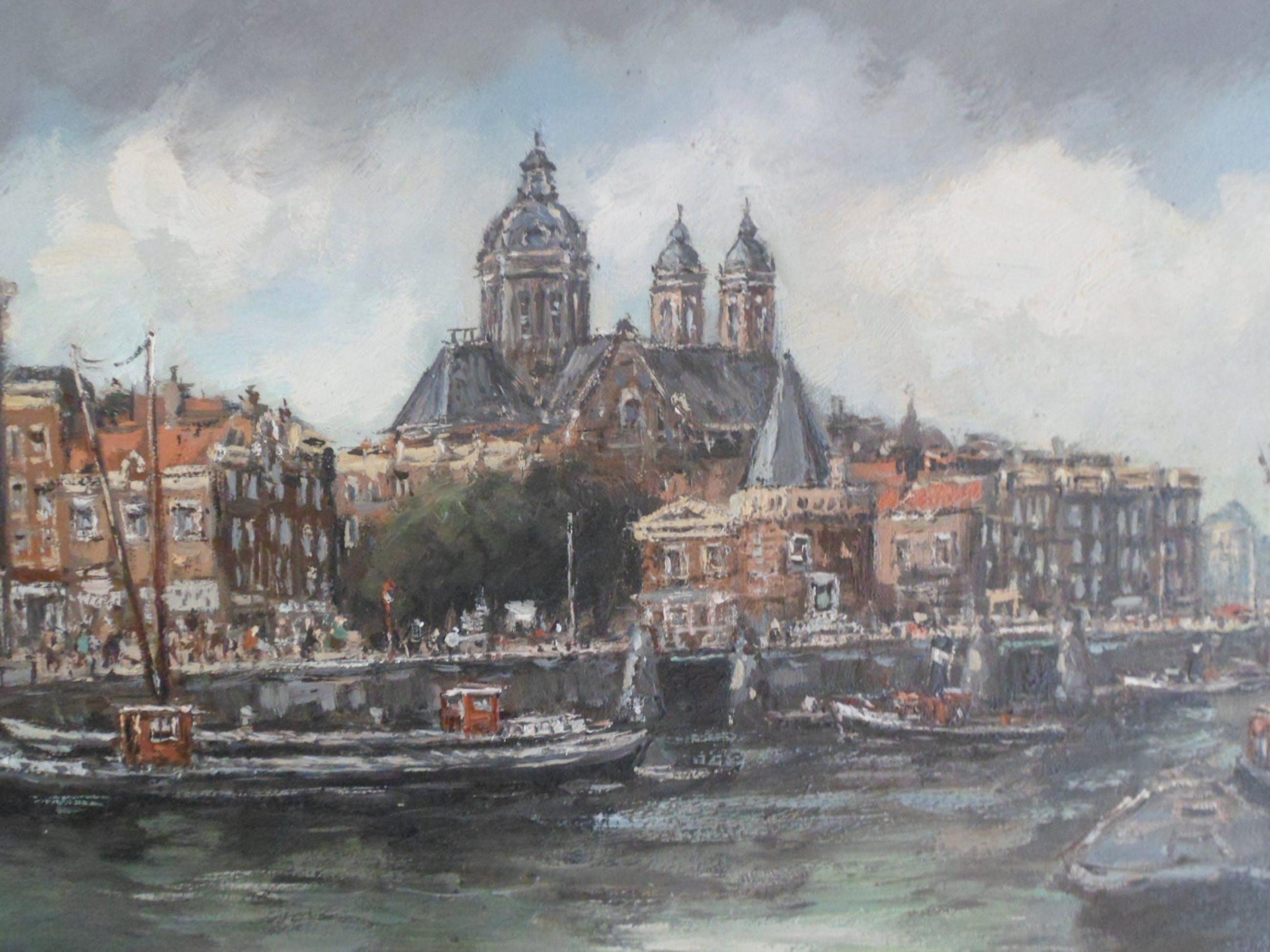 Hendrik Cornelis Kranenburg - H.C.Kranenburg 1917-1997.Zicht op Amsterdam. kopen? Bied vanaf 399!