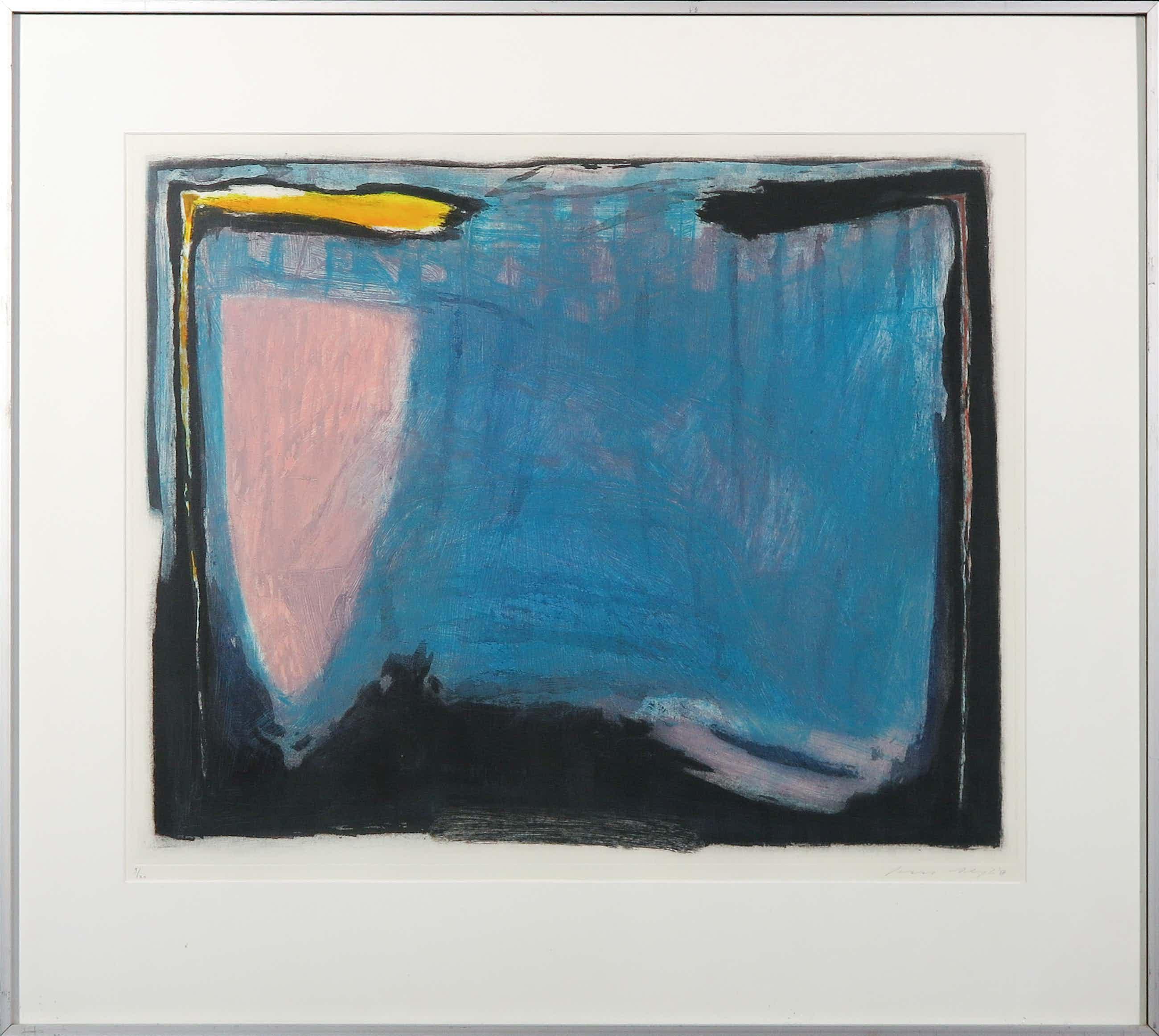 Kees Slegt - Ets en aquatint, Abstracte compositie - Ingelijst kopen? Bied vanaf 35!