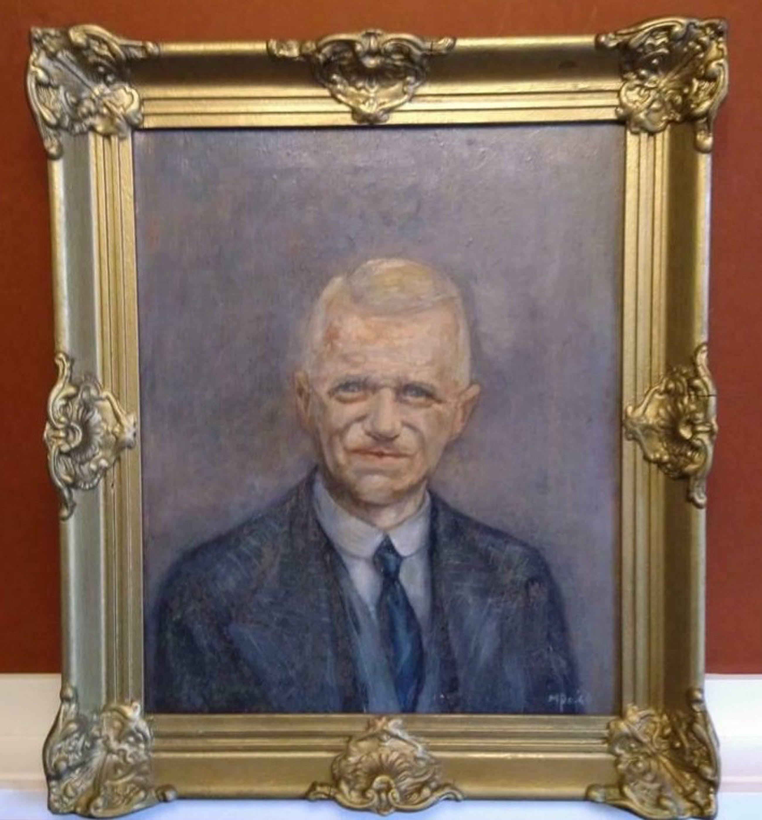 Niet of onleesbaar gesigneerd - Portret van Man - 1946 - gesigneerd kopen? Bied vanaf 1!