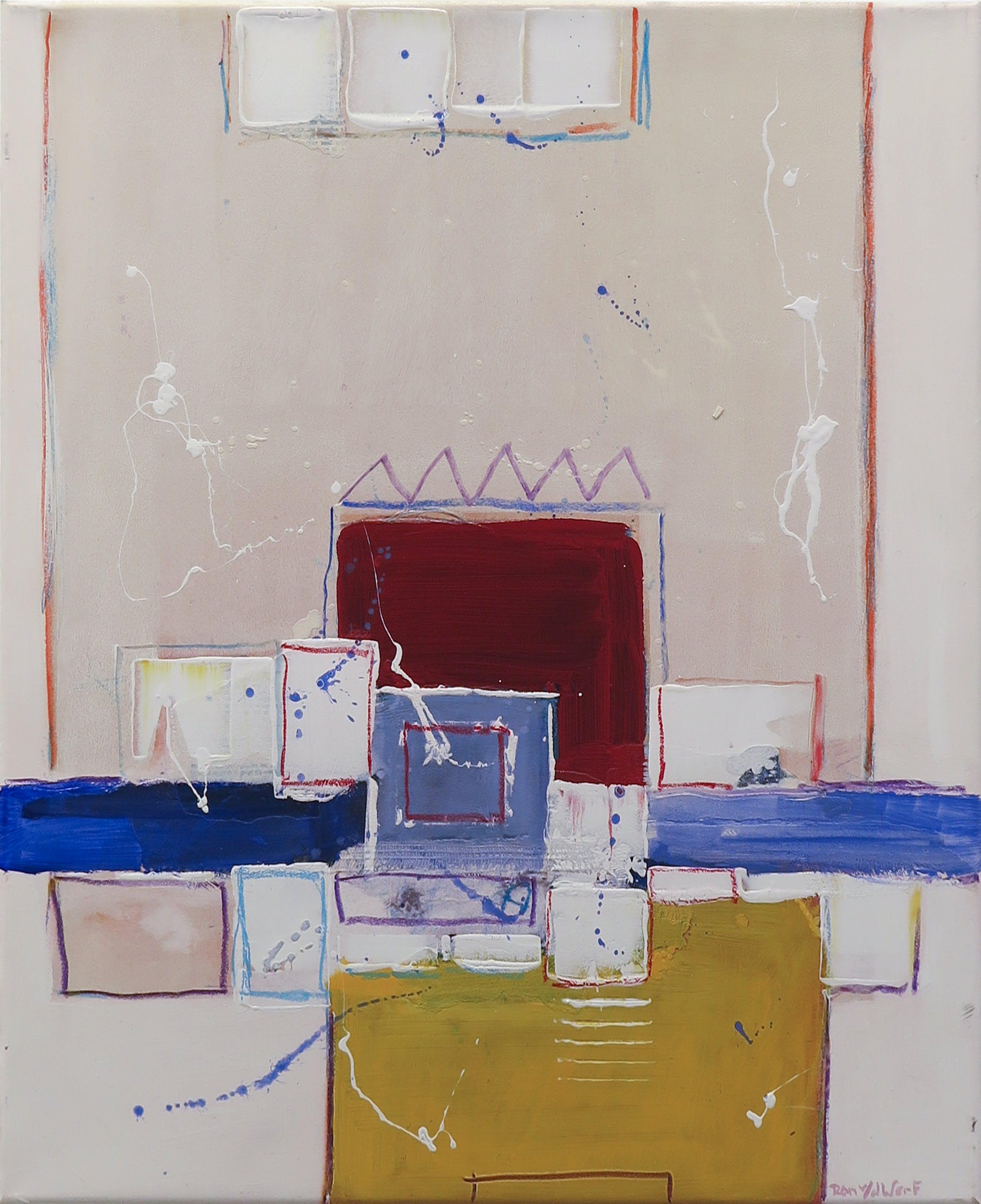 Ron van der Werf - Zeefdruk gelijmd op kunststof op doek, Zonder titel (met ophangsysteem) kopen? Bied vanaf 20!