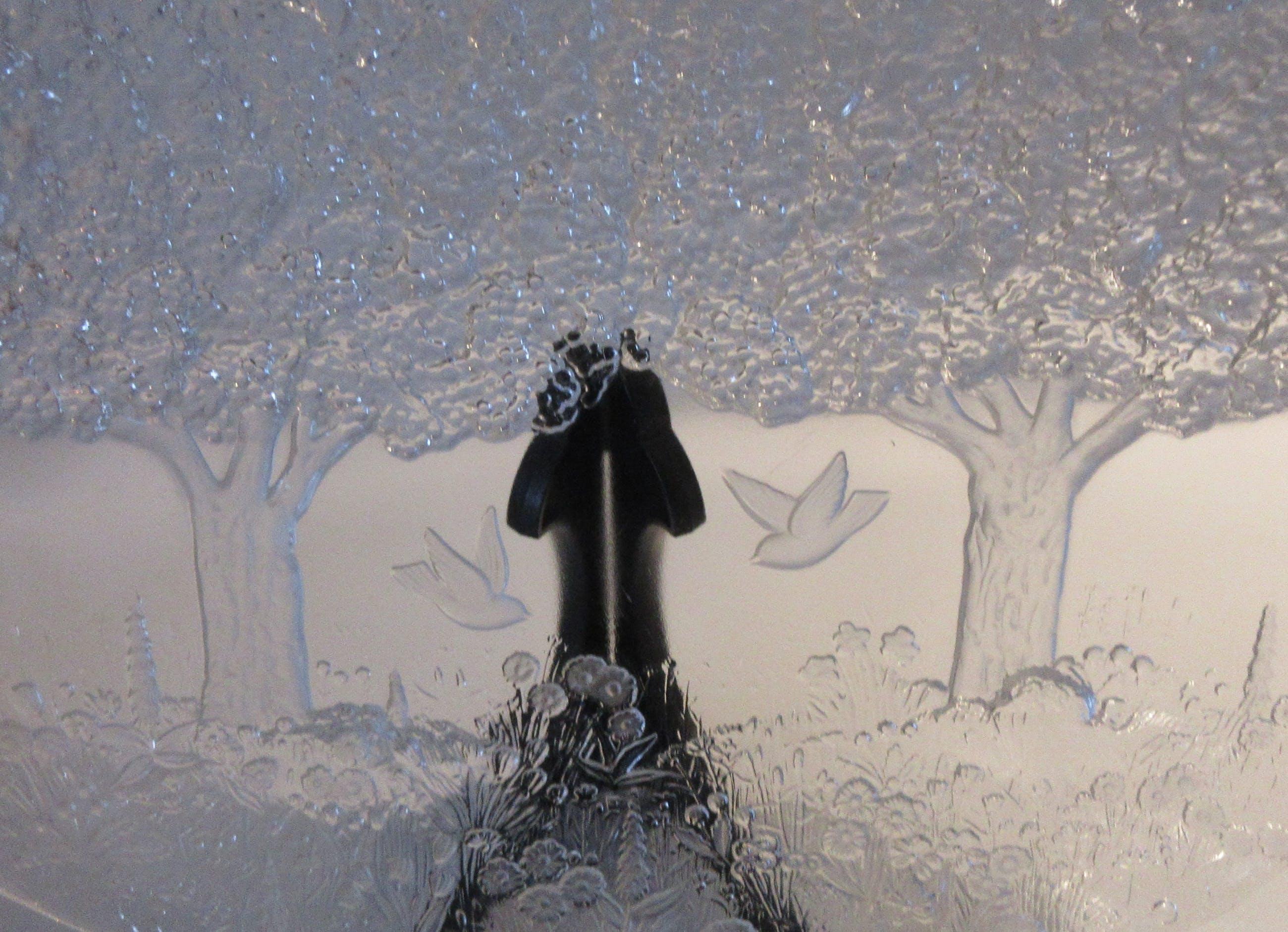 Niet of onleesbaar gesigneerd - Grote Persglazen dienblad afbeelding landschap kopen? Bied vanaf 1!
