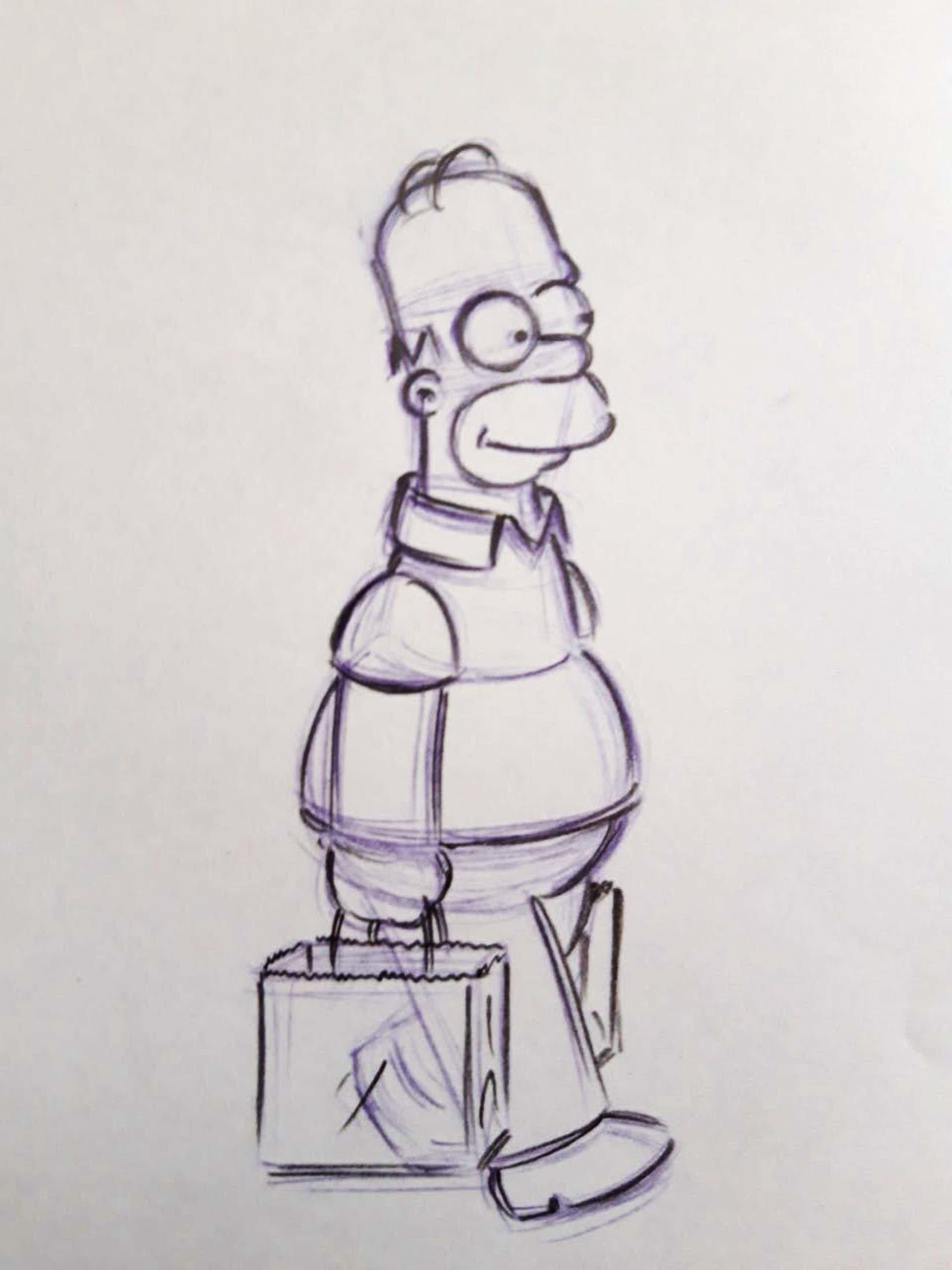 Matt Groening - originele productie tekening, The Simpsons, Homer kopen? Bied vanaf 135!
