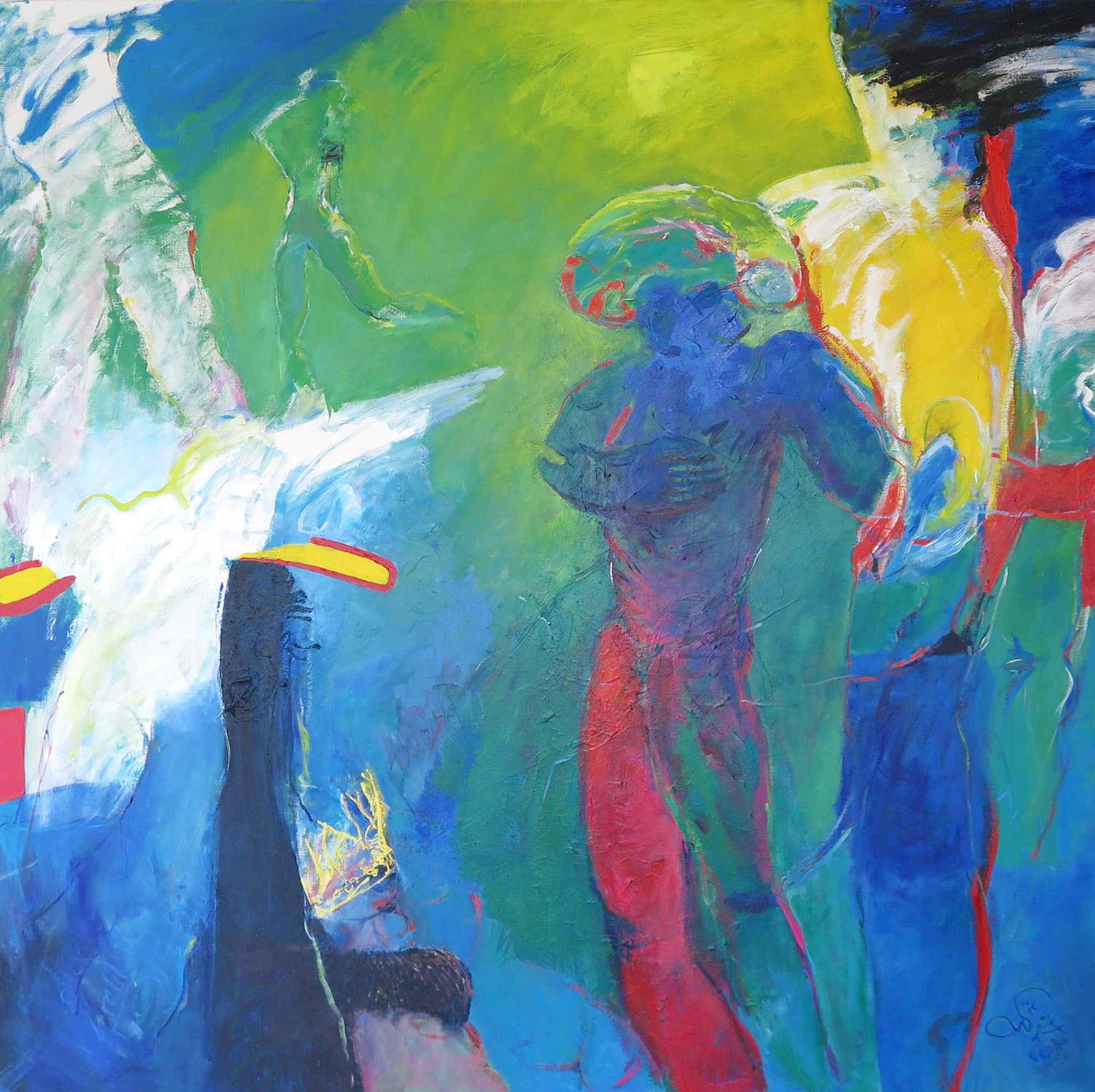 Franscz Witte - Acryl op doek, De rebelse muse (Zeer groot!) kopen? Bied vanaf 320!