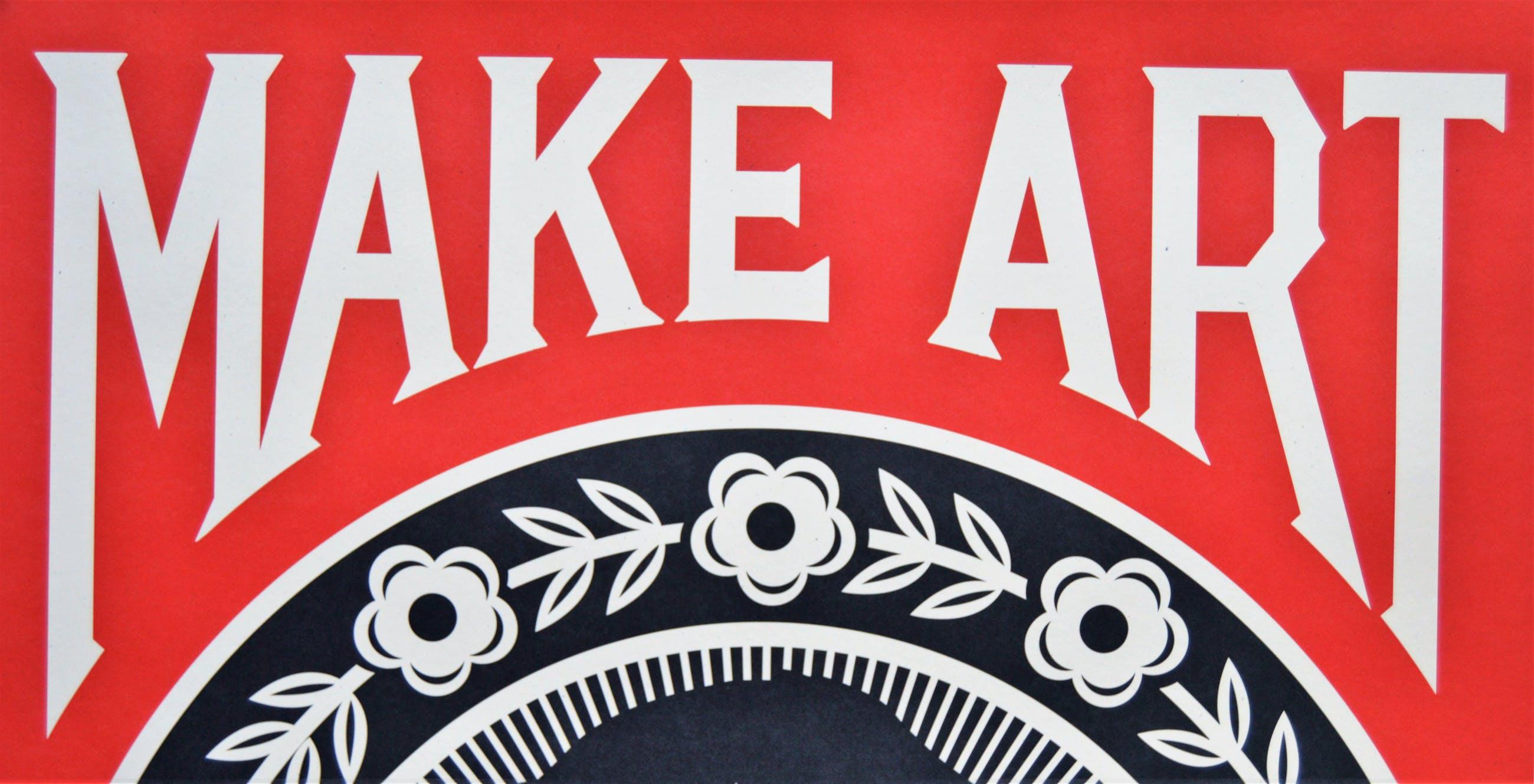 Shepard Fairey - MAKE ART NOT WAR - gesigneerd kopen? Bied vanaf 85!