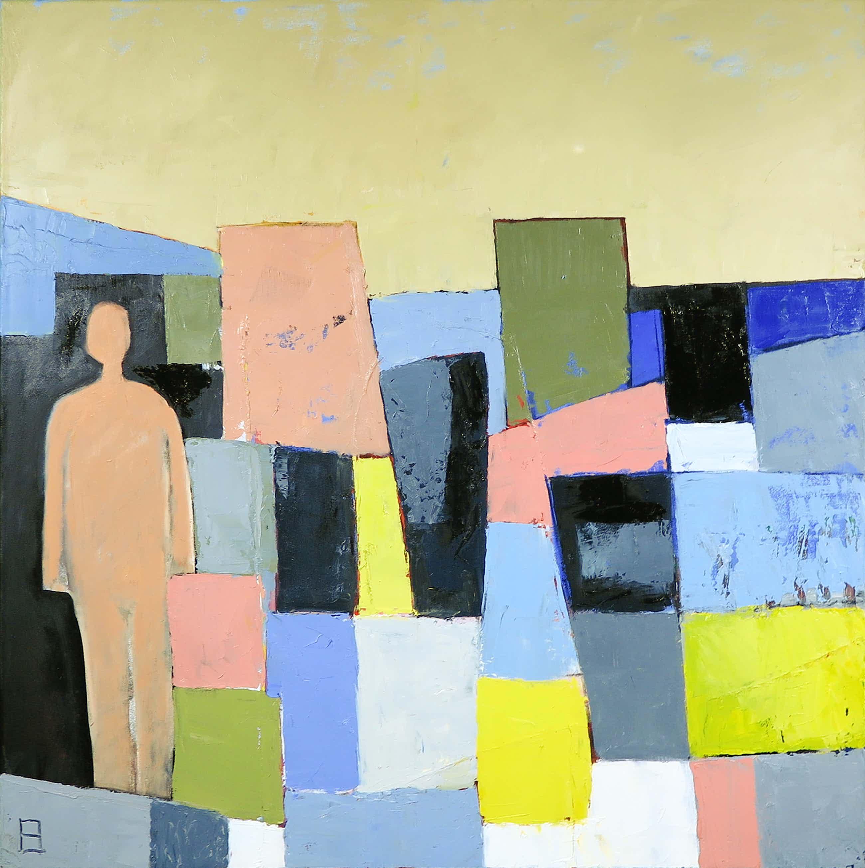 Philip Vencken - Olieverf op doek, Figure in a Landscape (Groot) kopen? Bied vanaf 85!
