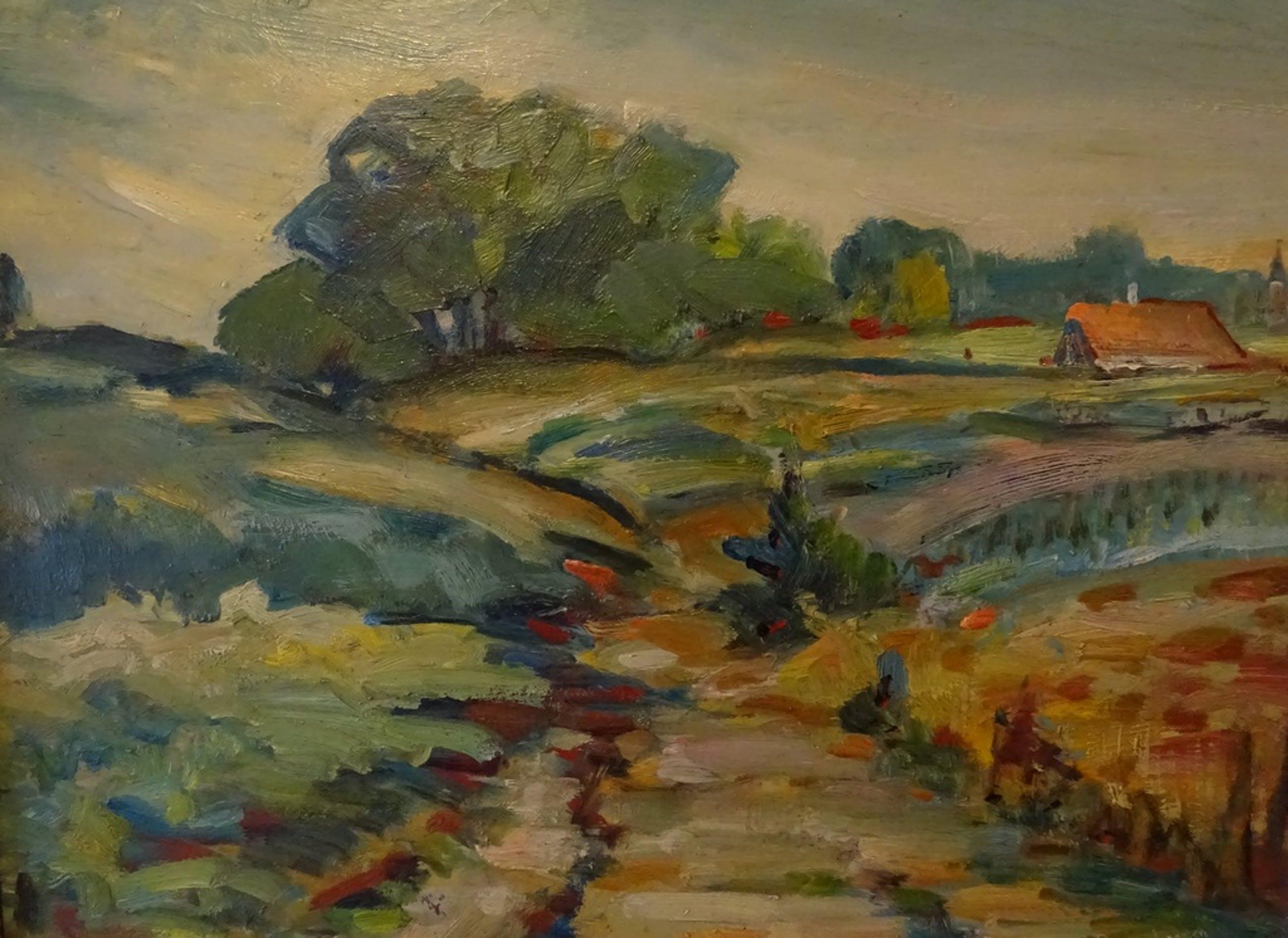 Ben van Londen - Impressionistisch landschap kopen? Bied vanaf 135!