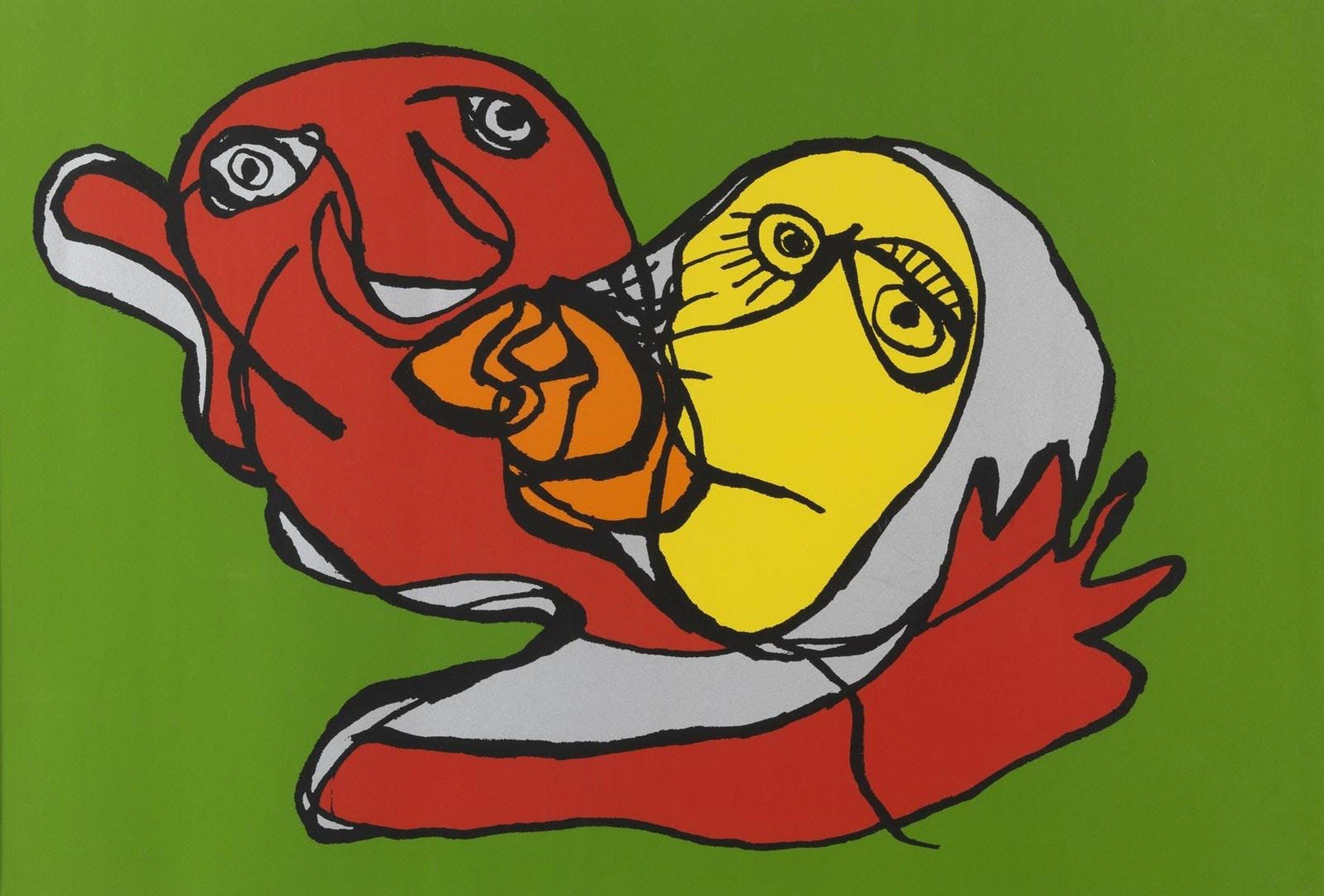 Karel Appel - Putting Green Kiss kopen? Bied vanaf 475!