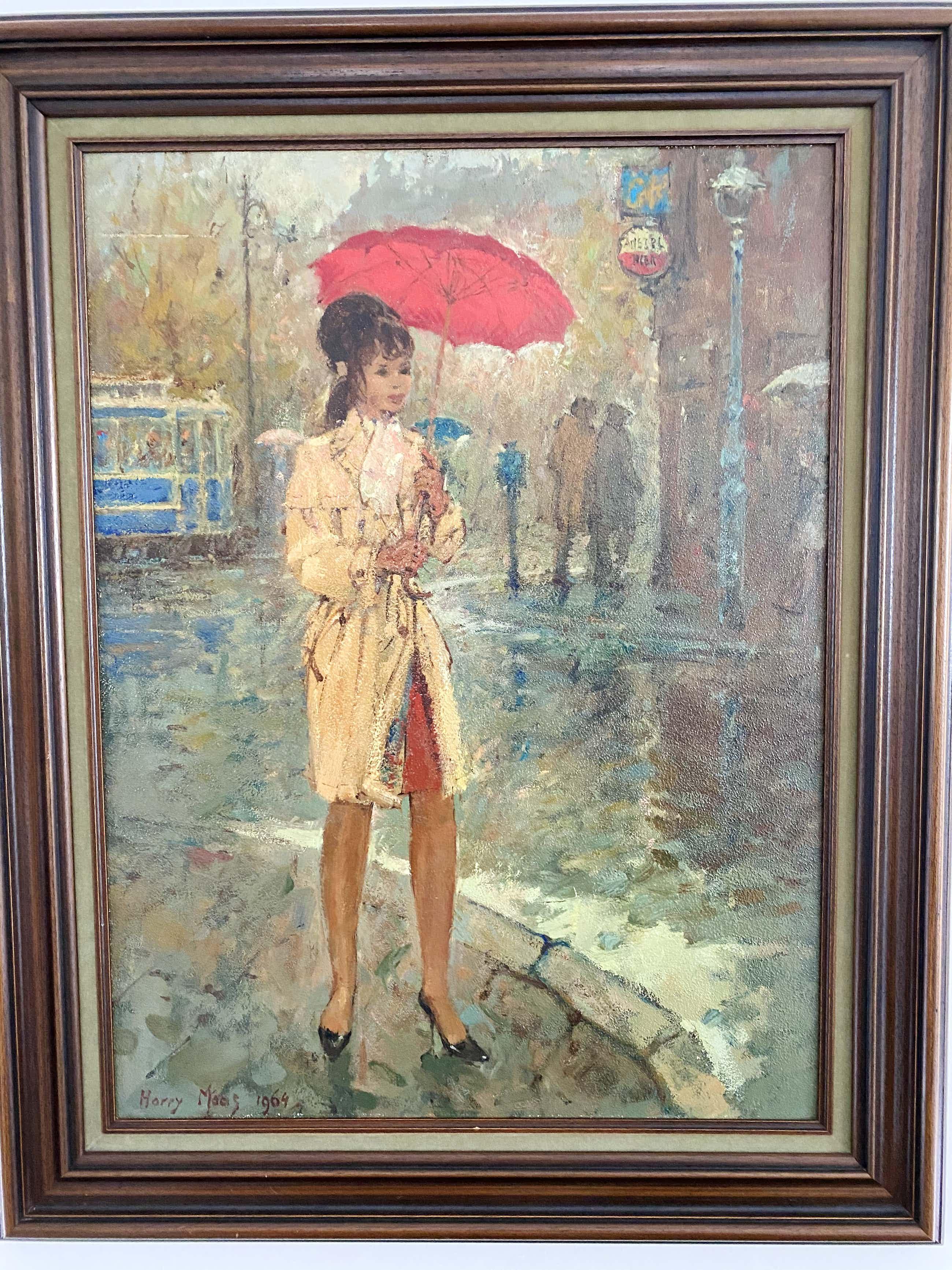 Harry Maas - Meisje met regenjas kopen? Bied vanaf 750!