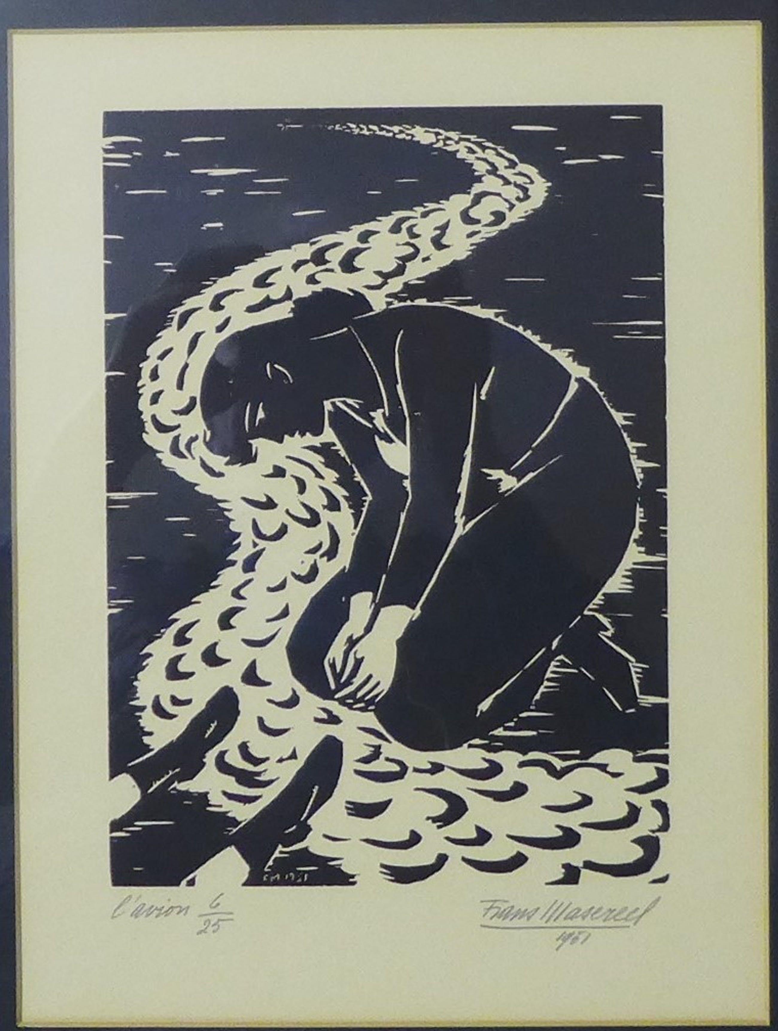 Frans Masereel - Linosnede uit 1951 kleine oplage 6/25 kopen? Bied vanaf 275!